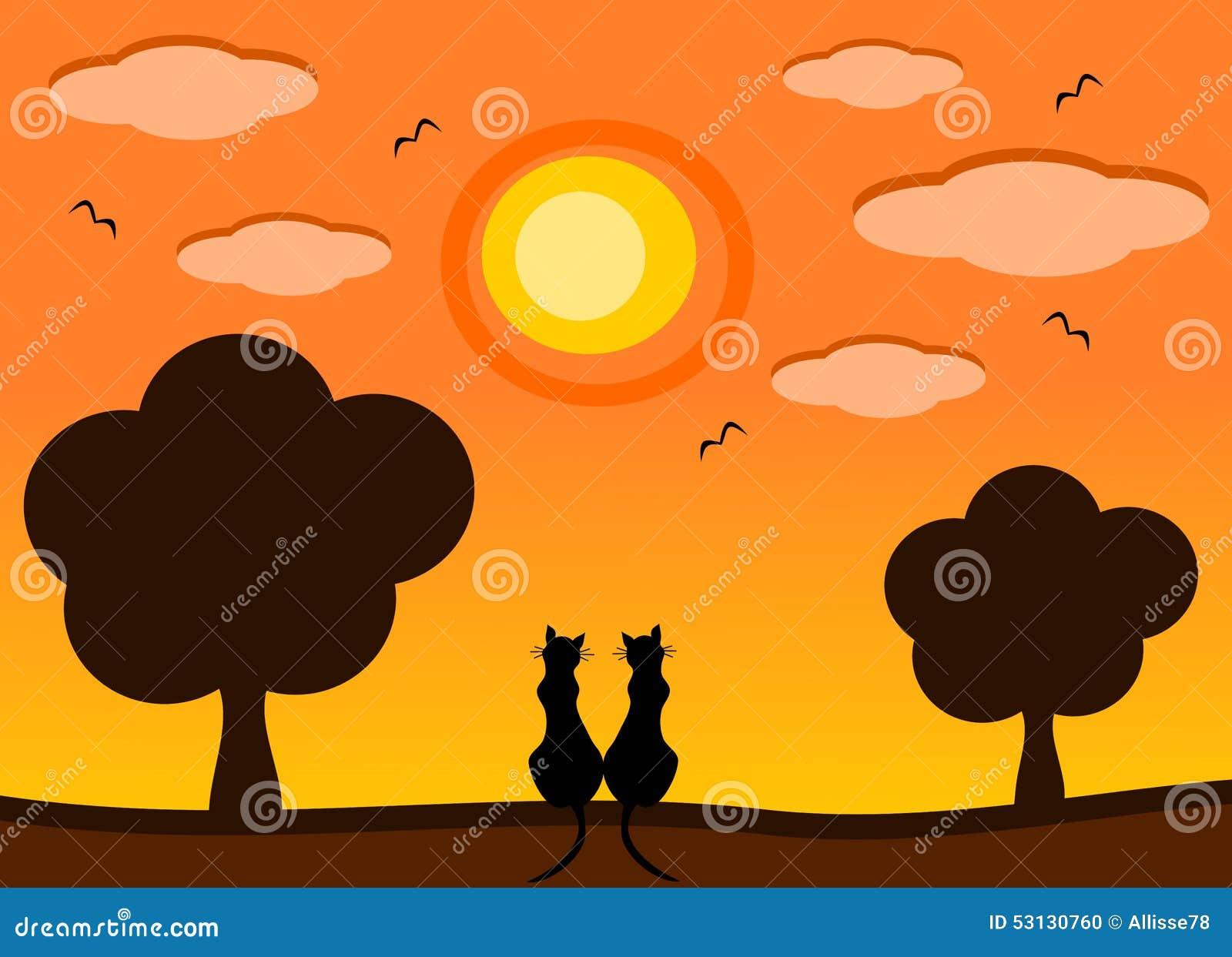 pin house cartoon sunset - photo #41