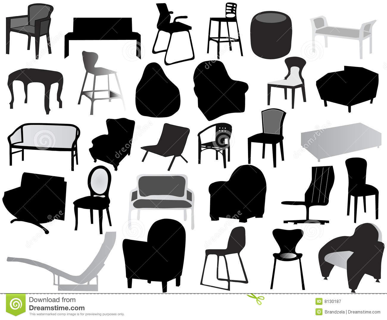 Silhouette Of Chair Royalty Free Stock Photography - Image: 8130187