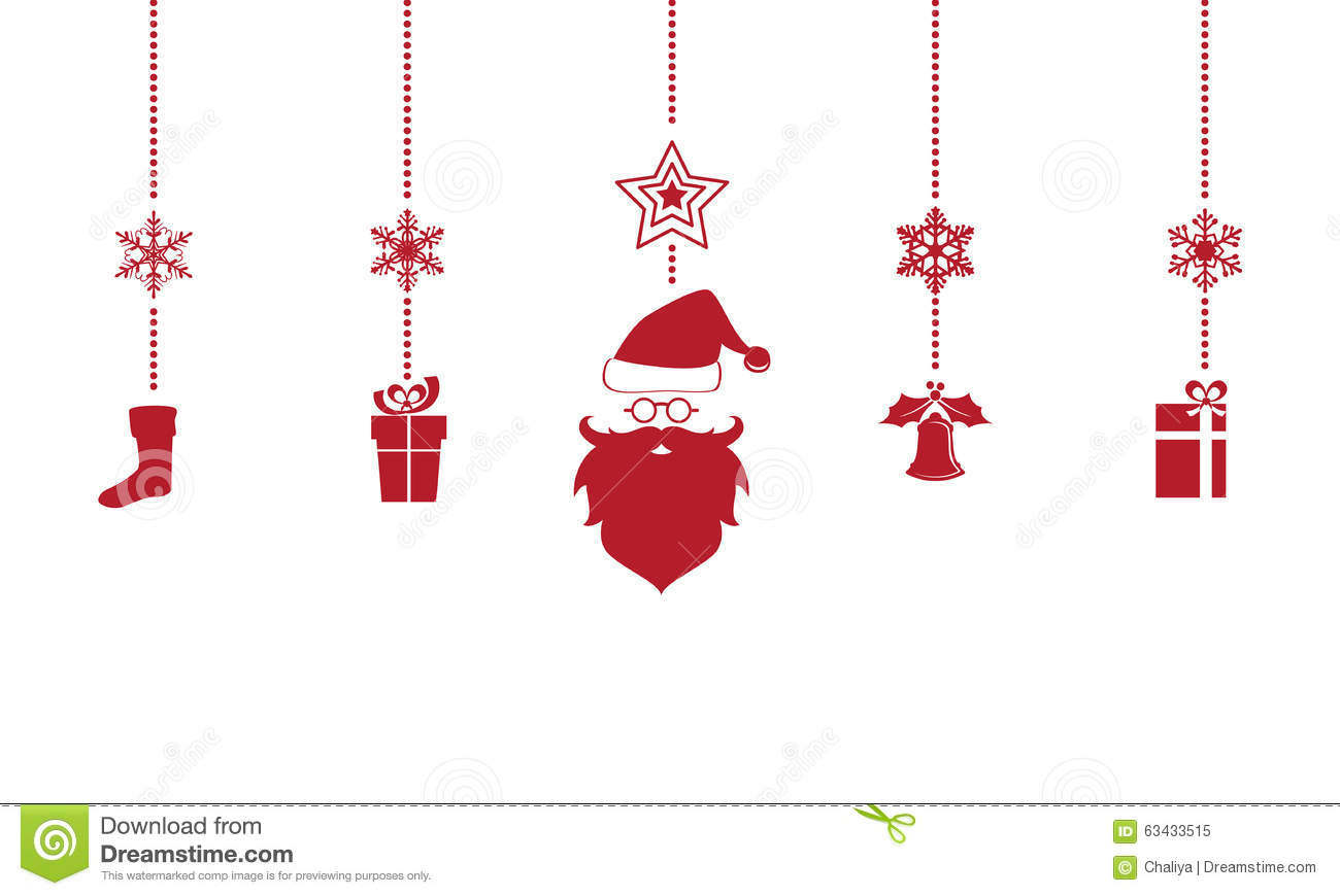 Hanging Christmas Ornaments Silhouette.Silhouette Christmas Ornaments Hanging Isolated Background