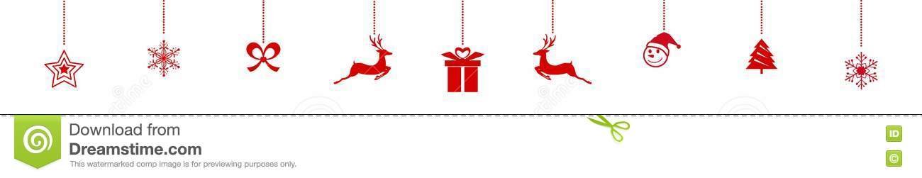 Hanging Christmas Ornaments Silhouette.Silhouette Christmas Ornaments Hanging Red Isolated