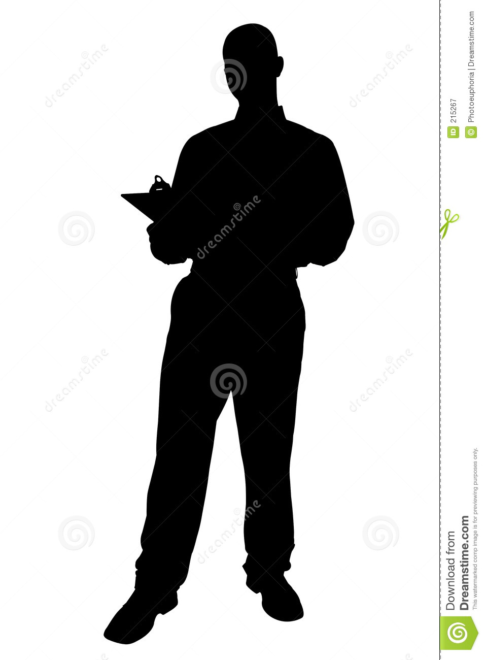 Silhouette With Clipping Path Of Business Man With ...