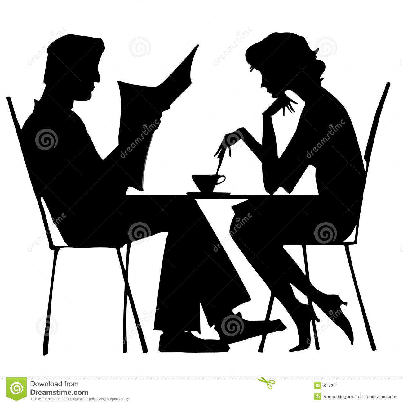Silhouette of a couple at restaurant royalty free stock photos image - Silhouette Of Couple Stock Image Image 817201