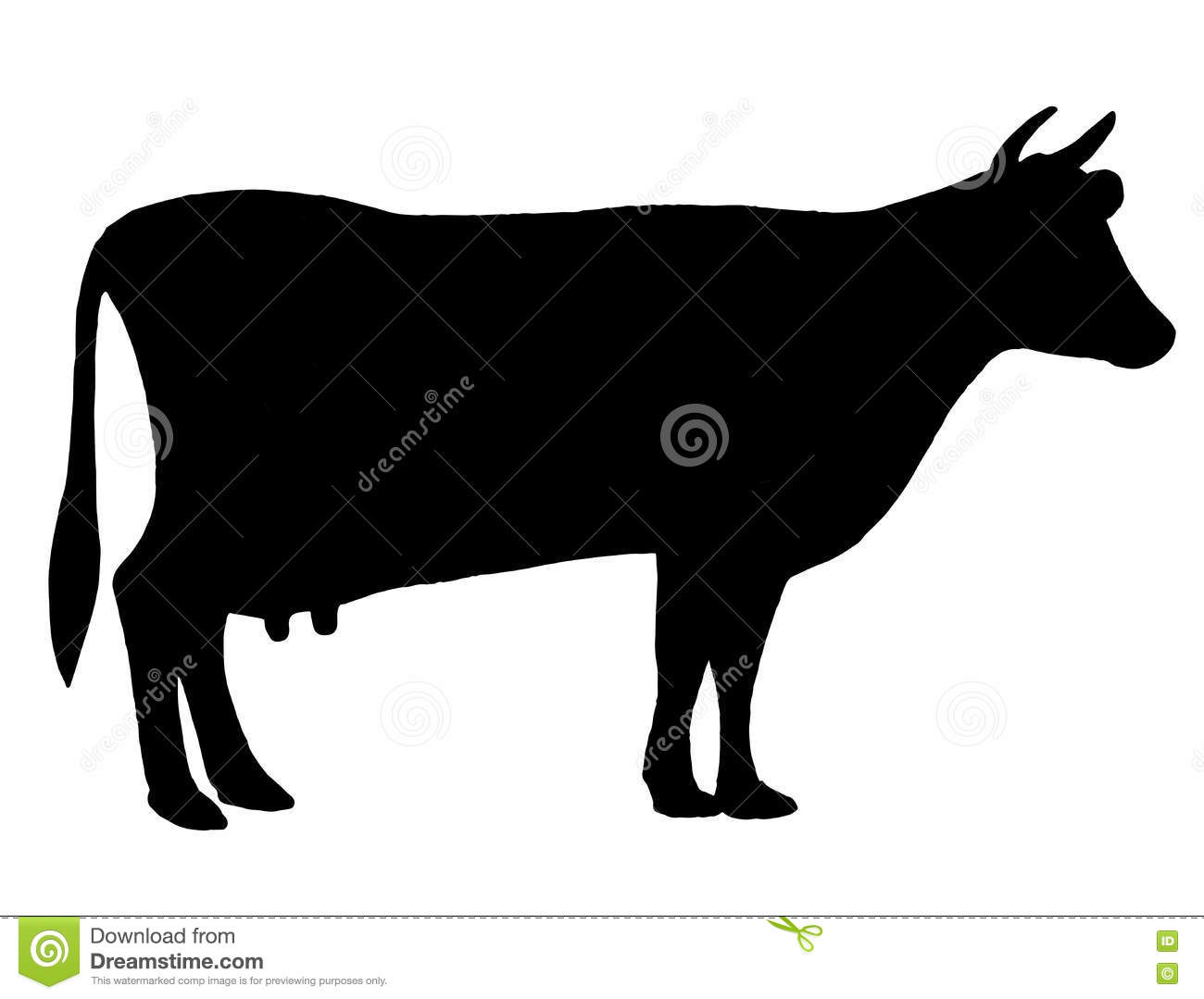 Silhouette Of A Cow Cattle Circuit Farm Bull Black And White