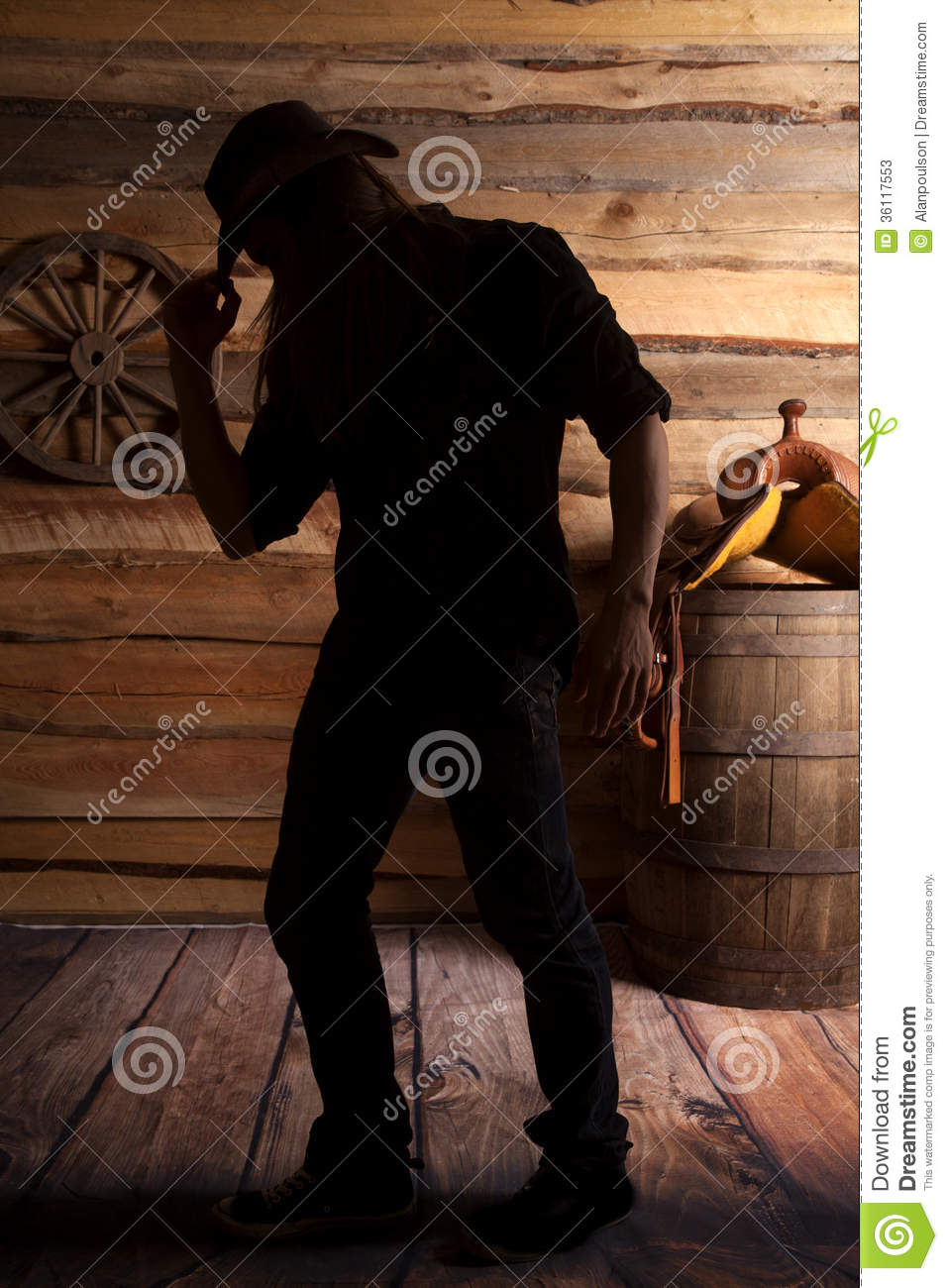 Cowboy Hat Background Silhouette Cowboy Hand...