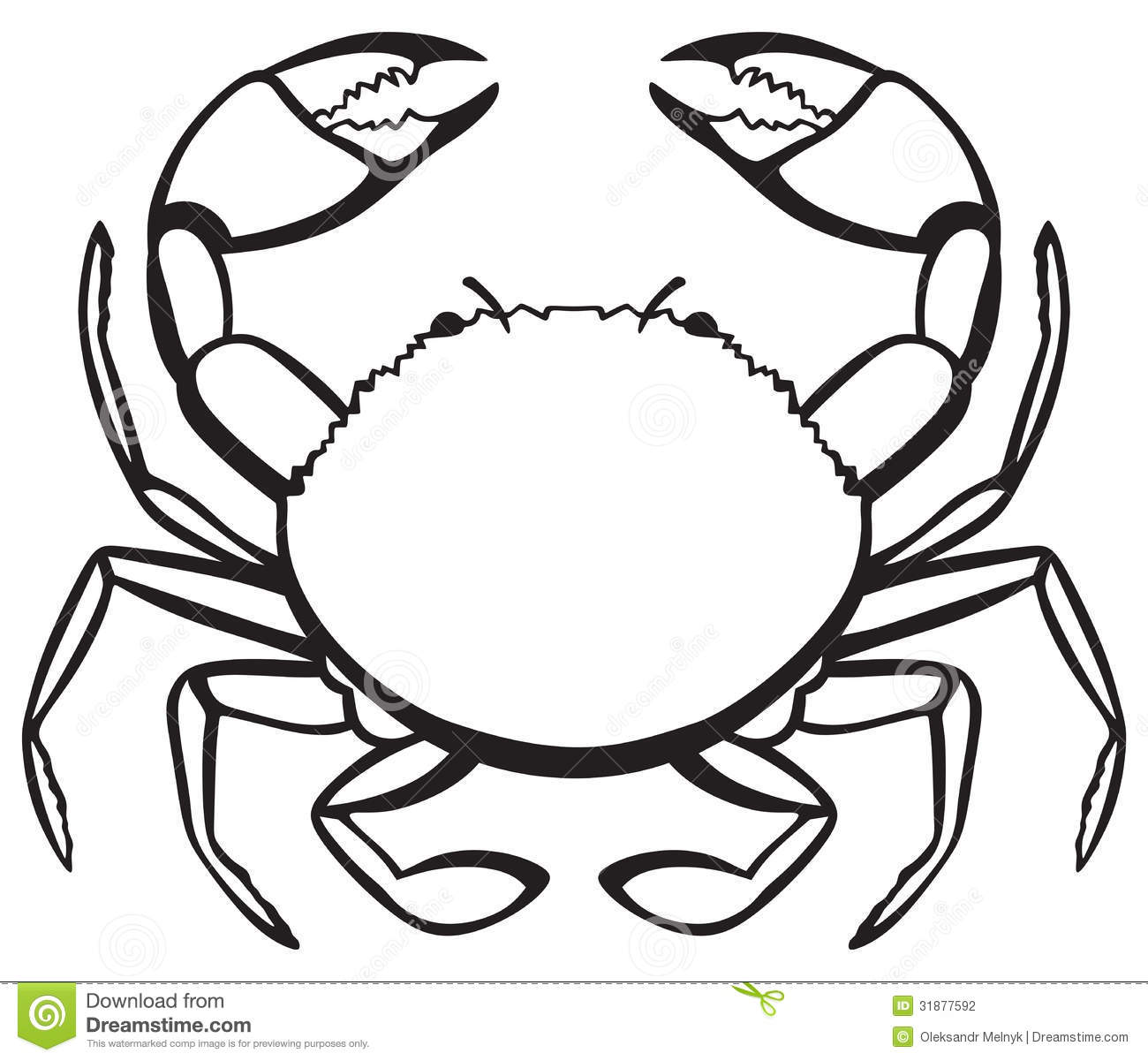 Silhouette Crab Stock Photography Image 31877592