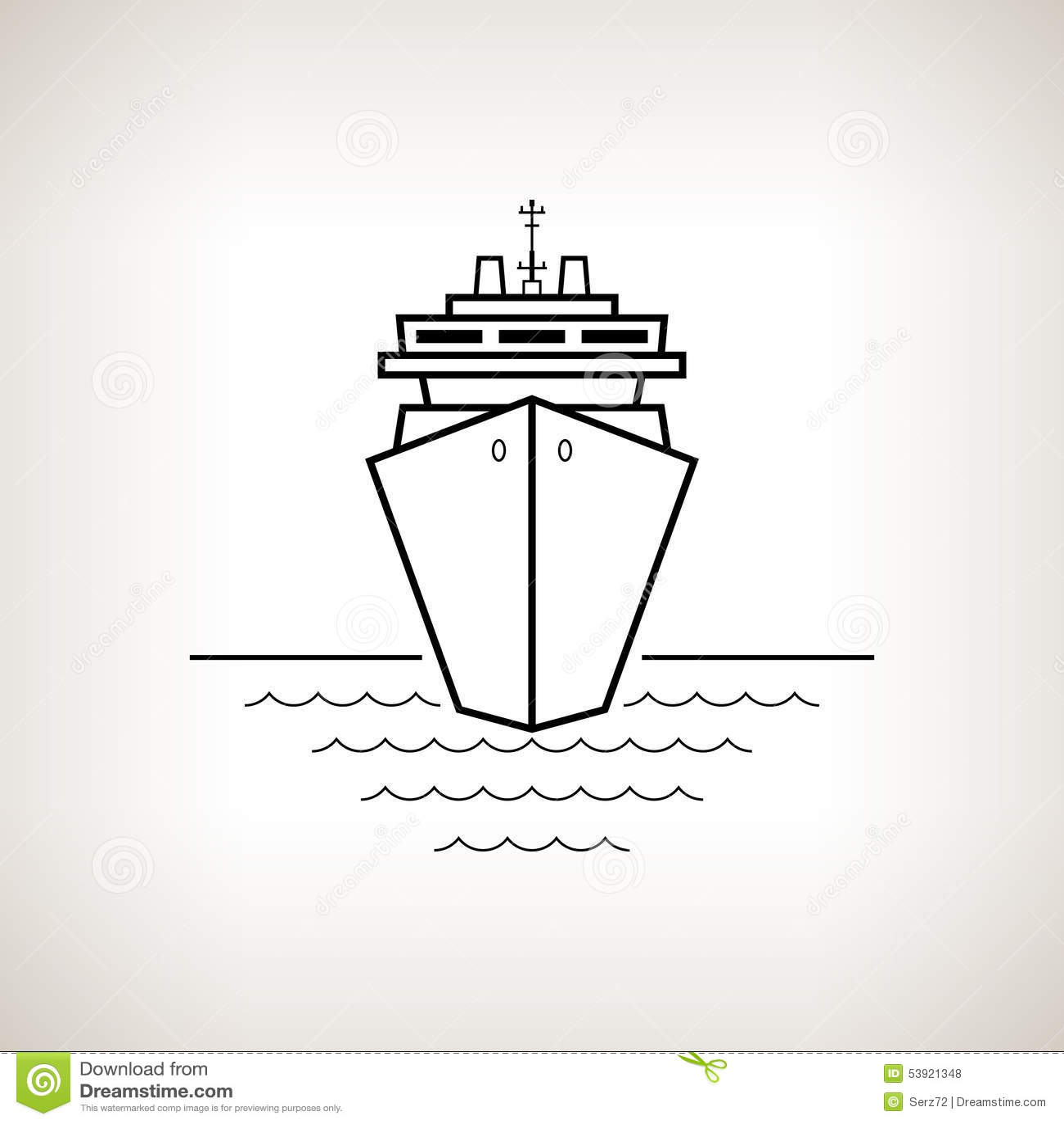 Cruise Ship Black And White