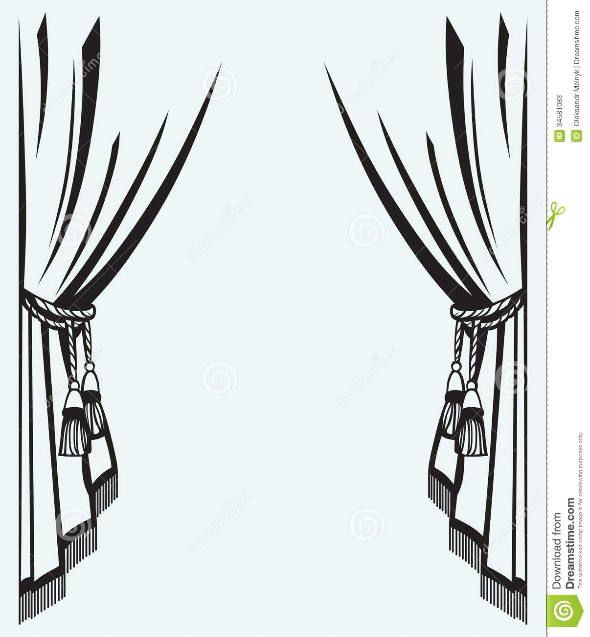 Silhouette Curtain Stock Photos - Image: 34581083