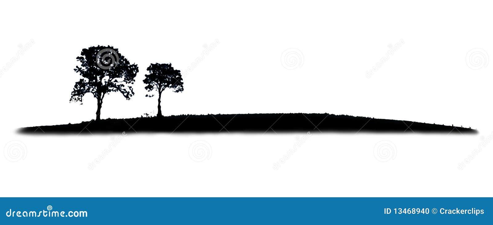 Silhouette d arbre