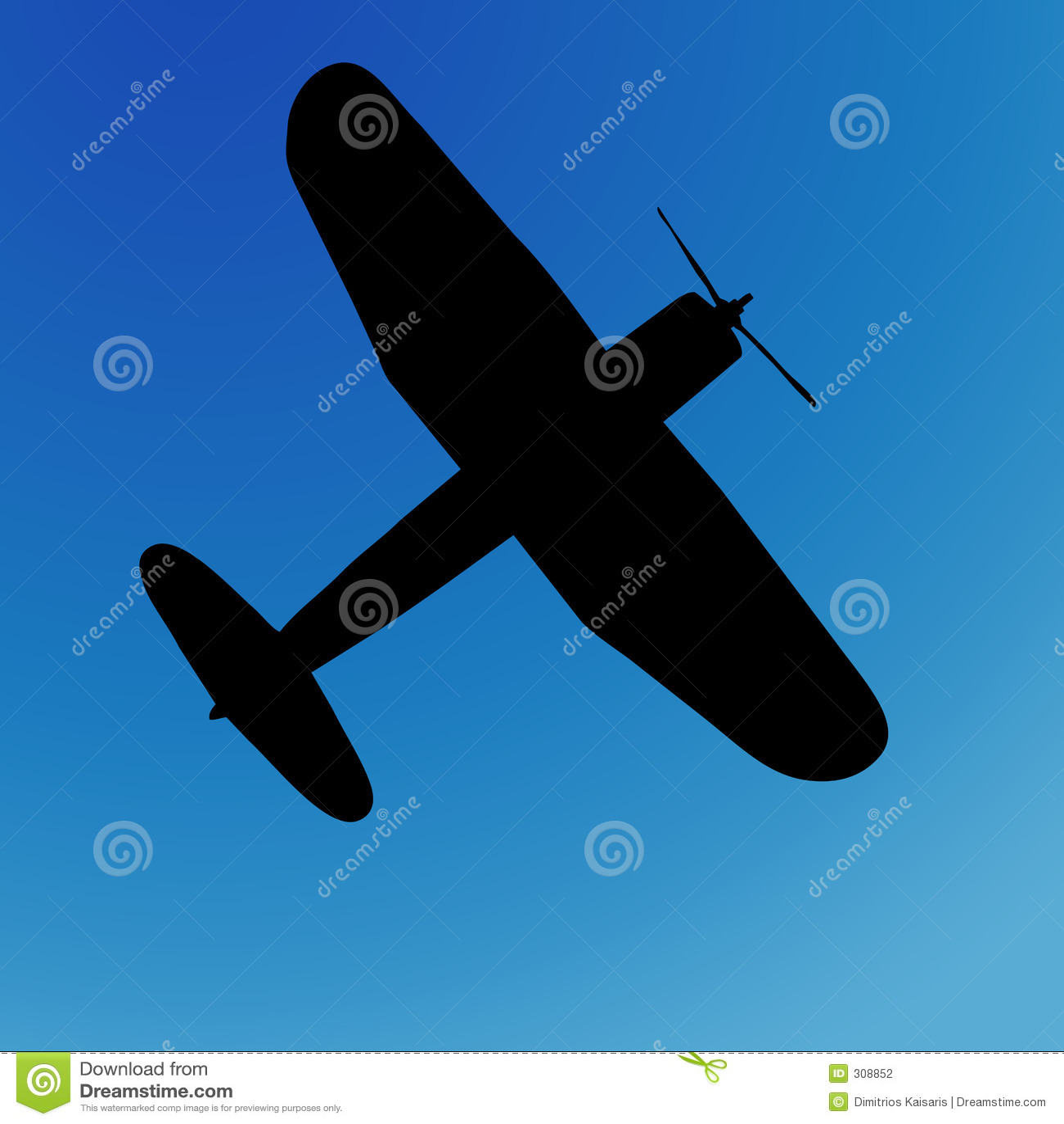 Silhouette d avion
