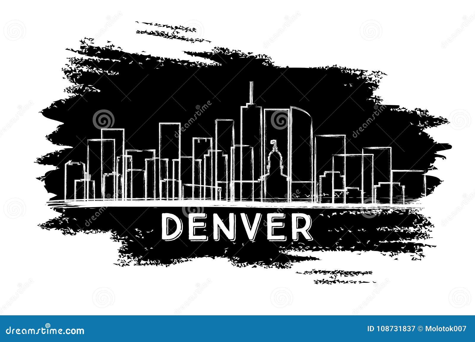 Silhouette d horizon de ville de Denver Colorado Etats-Unis