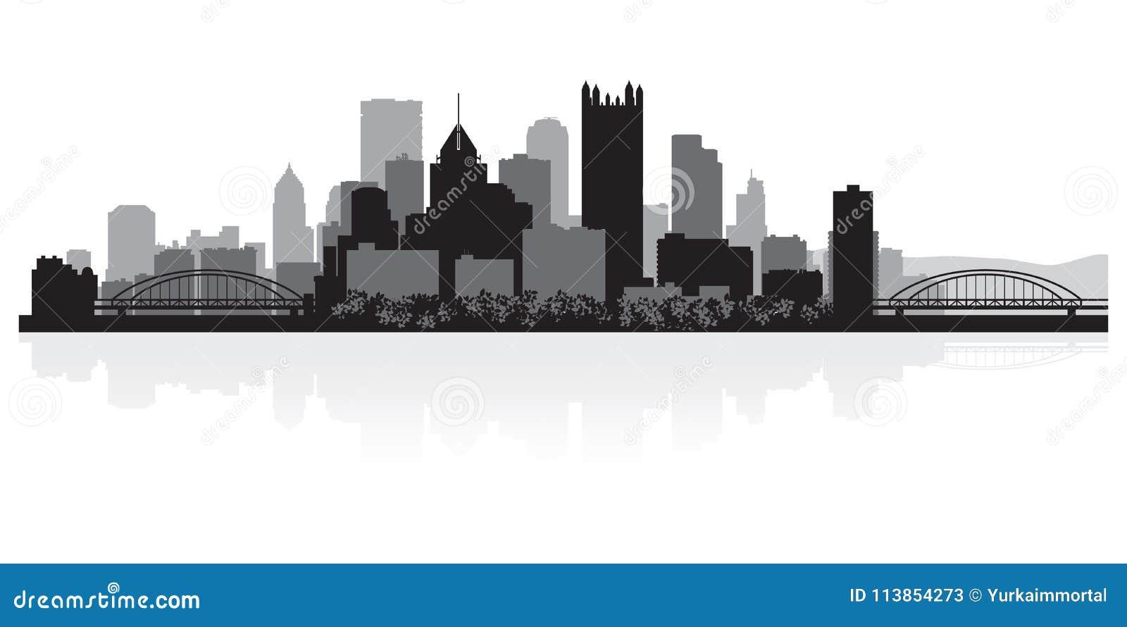 Silhouette d horizon de ville de Pittsburgh Pennsylvanie