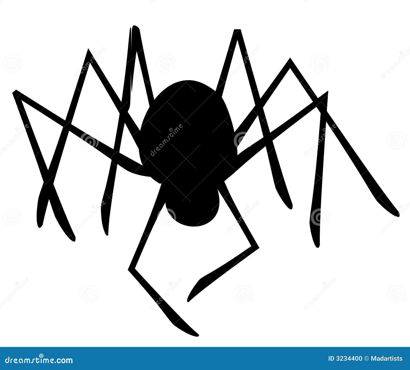 Silhouette d isolement d araignée