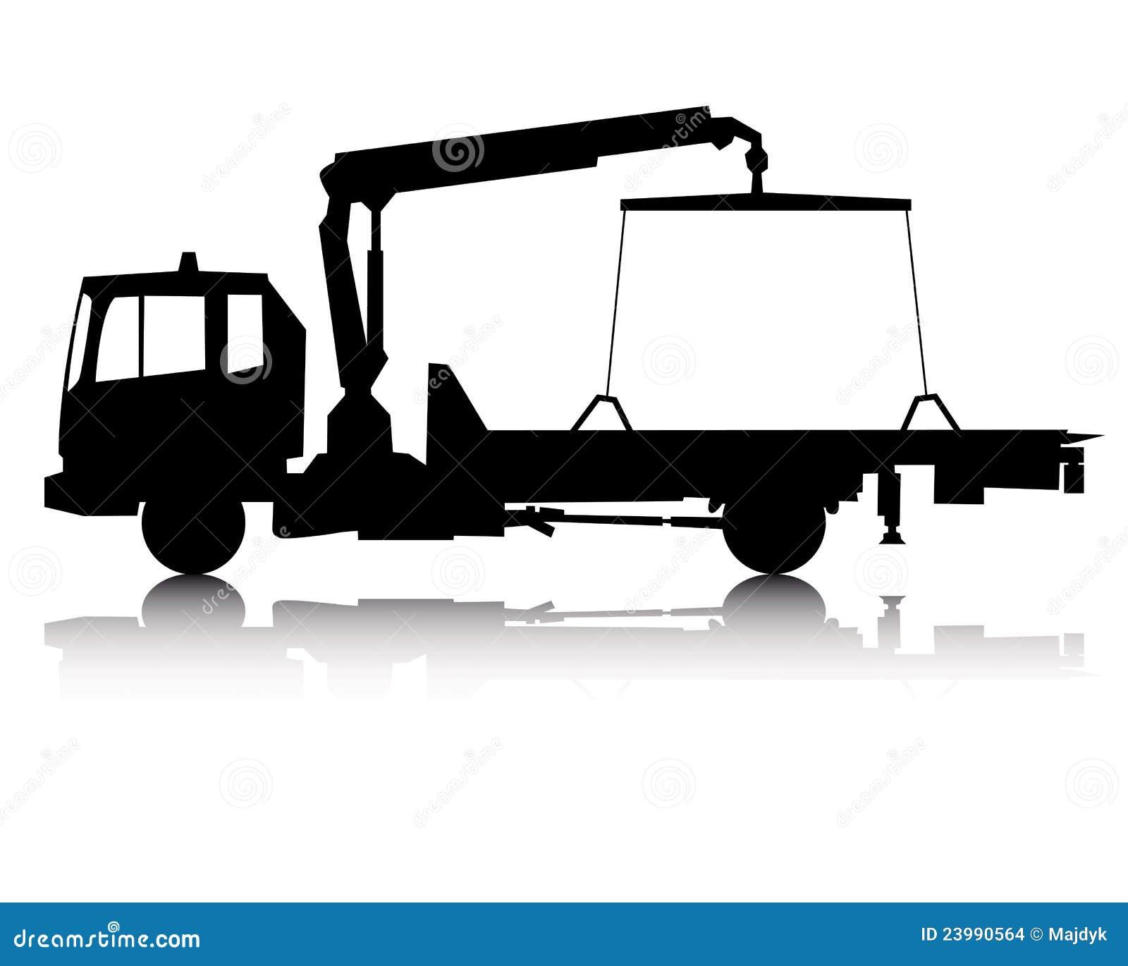 Silhouette d un camion de remorquage