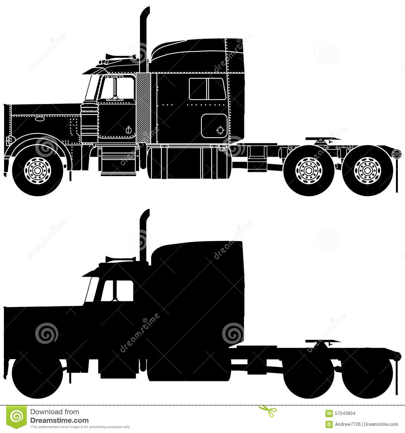 silhouette d 39 un camion peterbilt 379 illustration stock illustration du semi camion 57043804. Black Bedroom Furniture Sets. Home Design Ideas