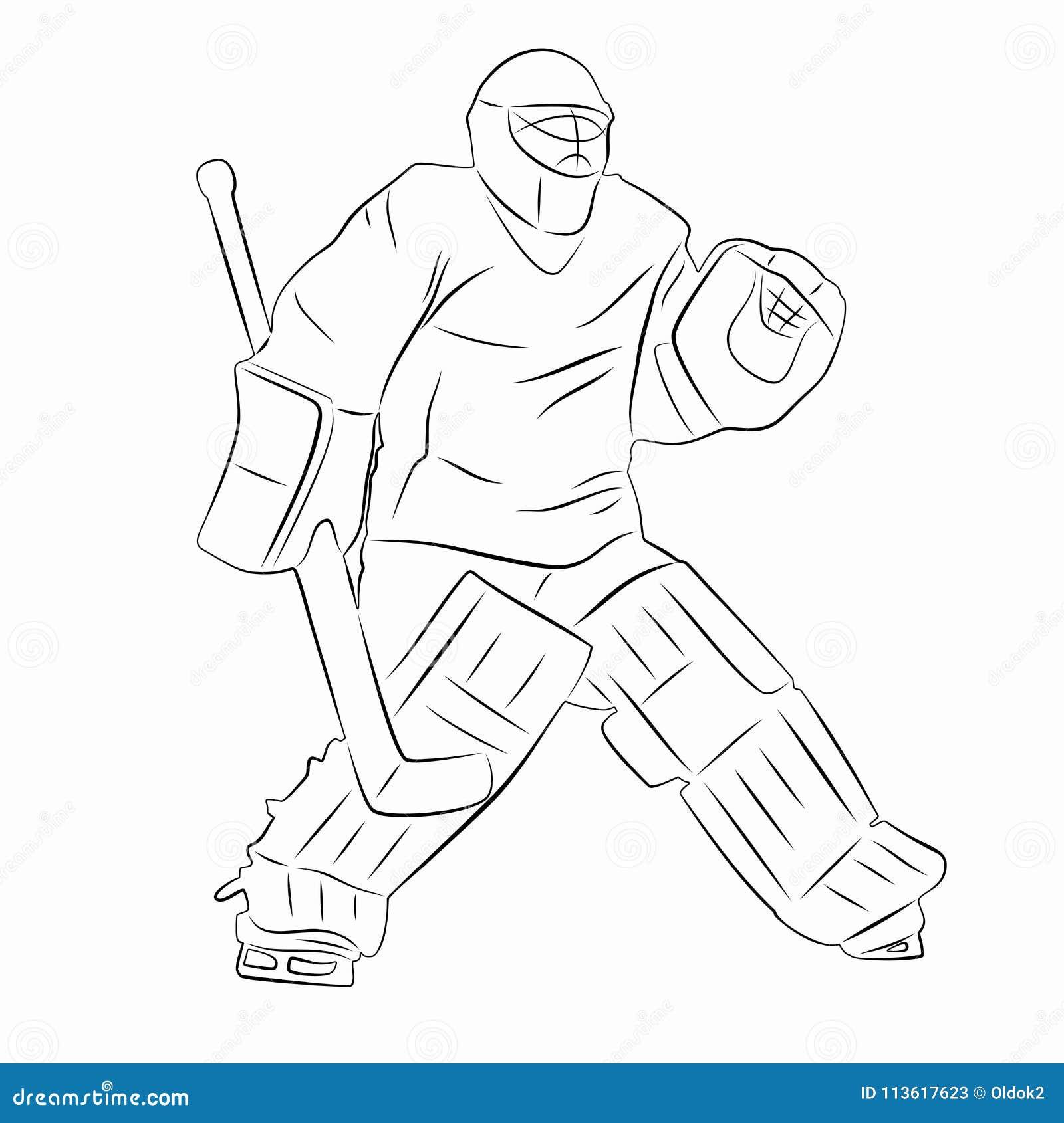 Silhouette d 39 un gardien de but d 39 hockey dirigez le - Gardien de but dessin ...