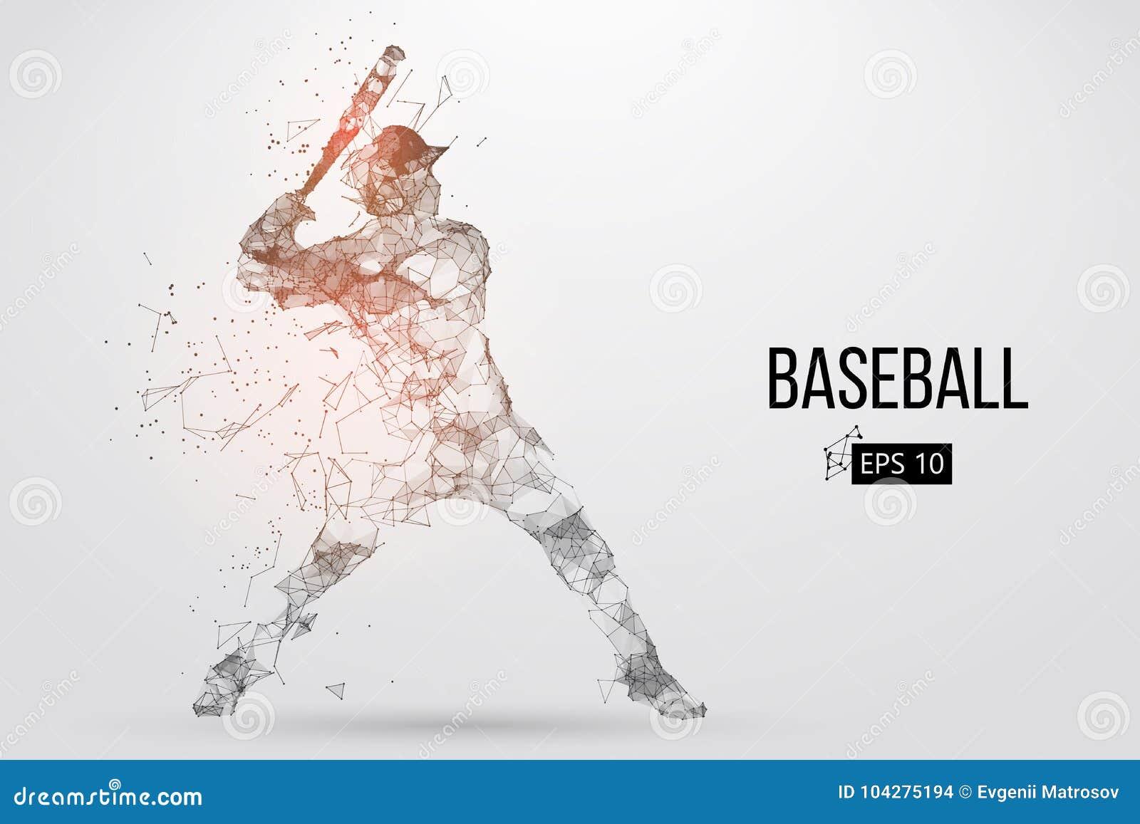 Silhouette d un joueur de baseball Illustration de vecteur