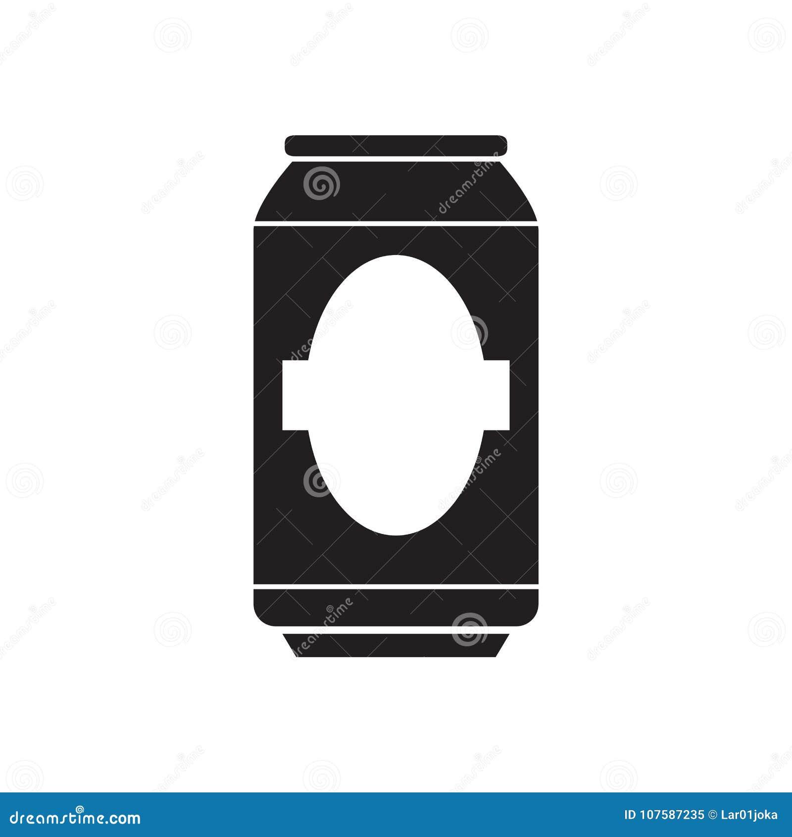 Silhouette d une canette de bière