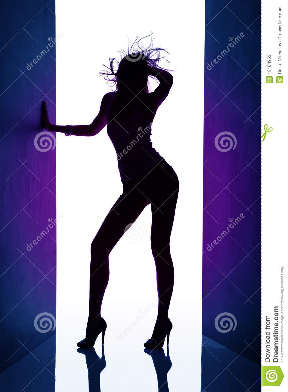 dancing girl silhouette - photo #46