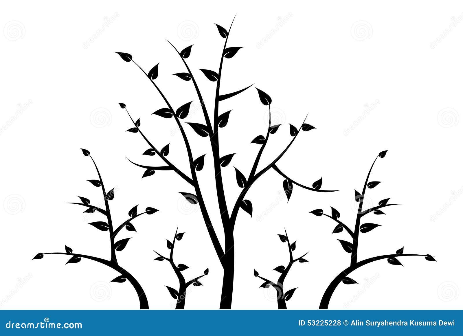 silhouette de branche d 39 arbre pour votre d coration illustration de vecteur image 53225228. Black Bedroom Furniture Sets. Home Design Ideas