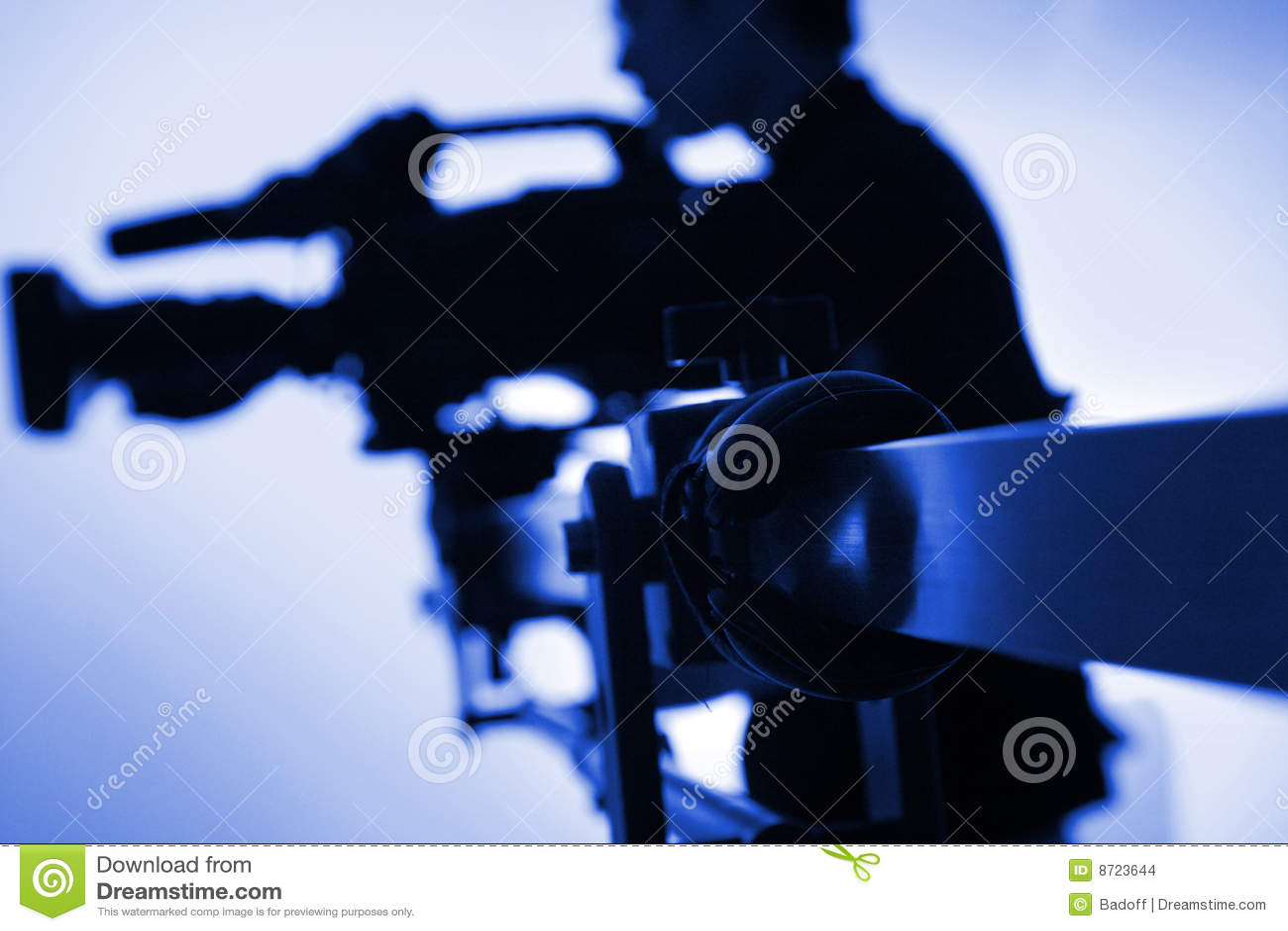 Silhouette de cameraman