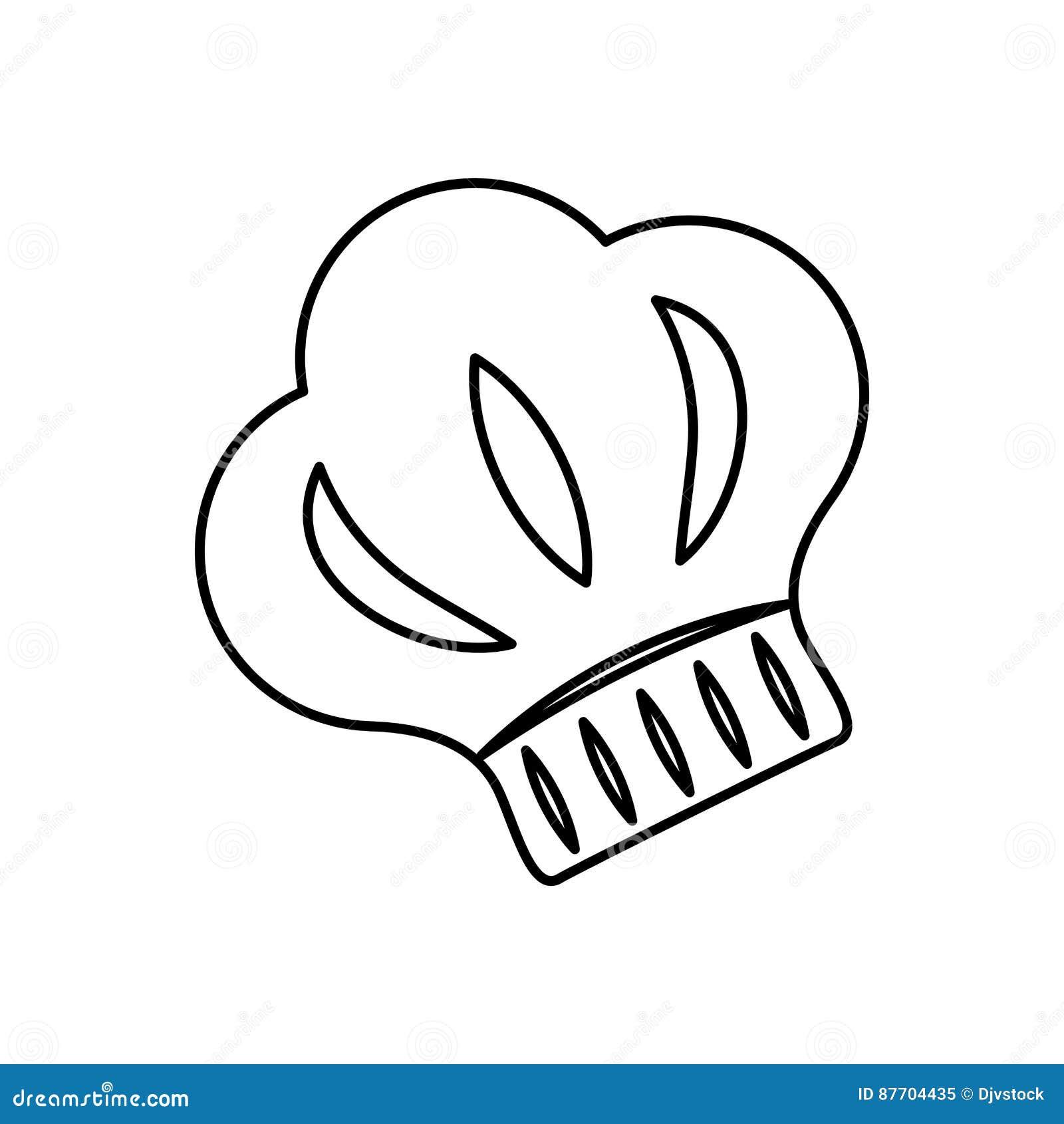 Silhouette de chapeau de chef