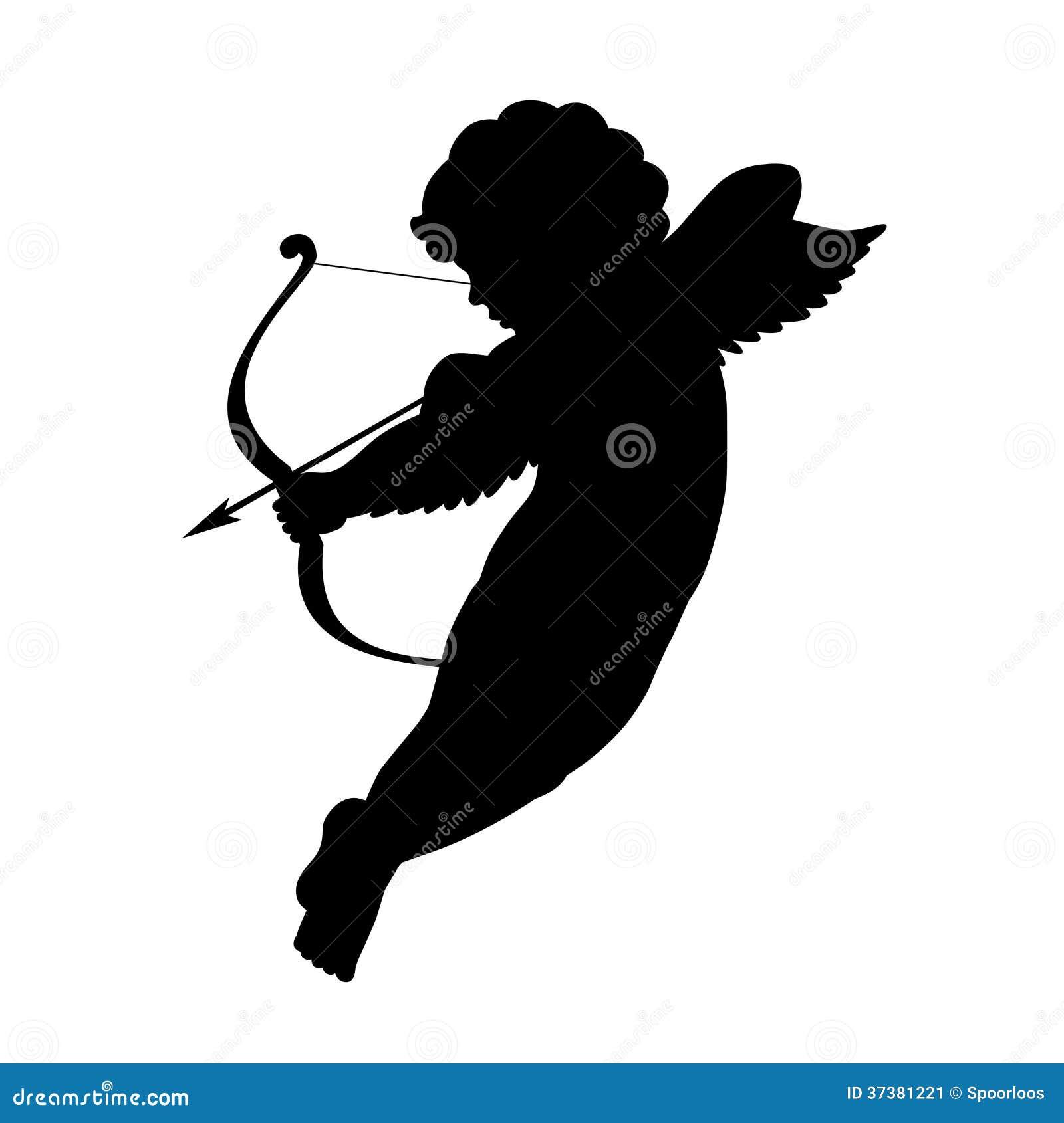 Silhouette de cupidon image stock image 37381221 - Image de cupidon gratuite ...