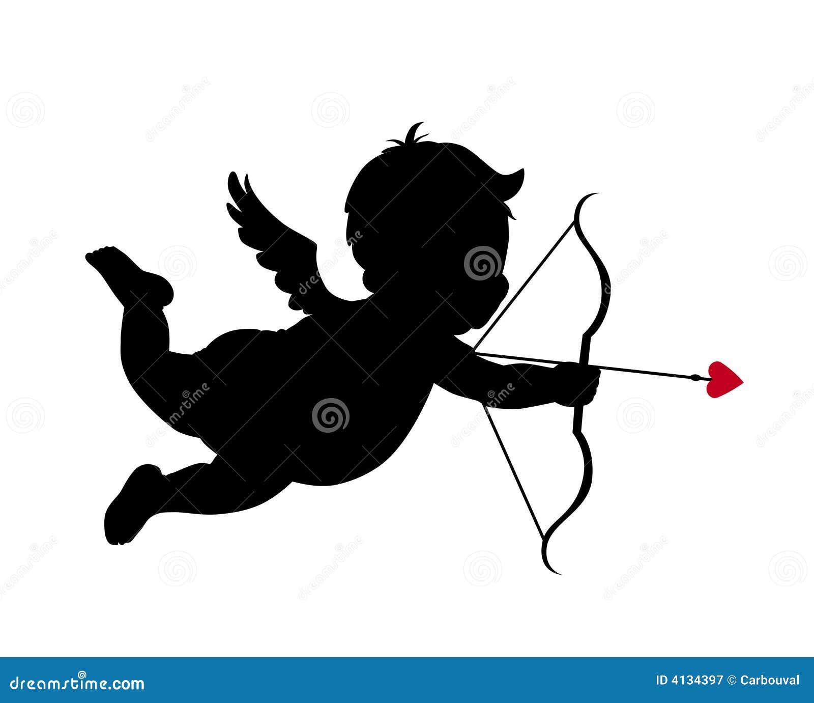 Silhouette de cupidon illustration de vecteur illustration du mariage 4134397 - Image de cupidon gratuite ...