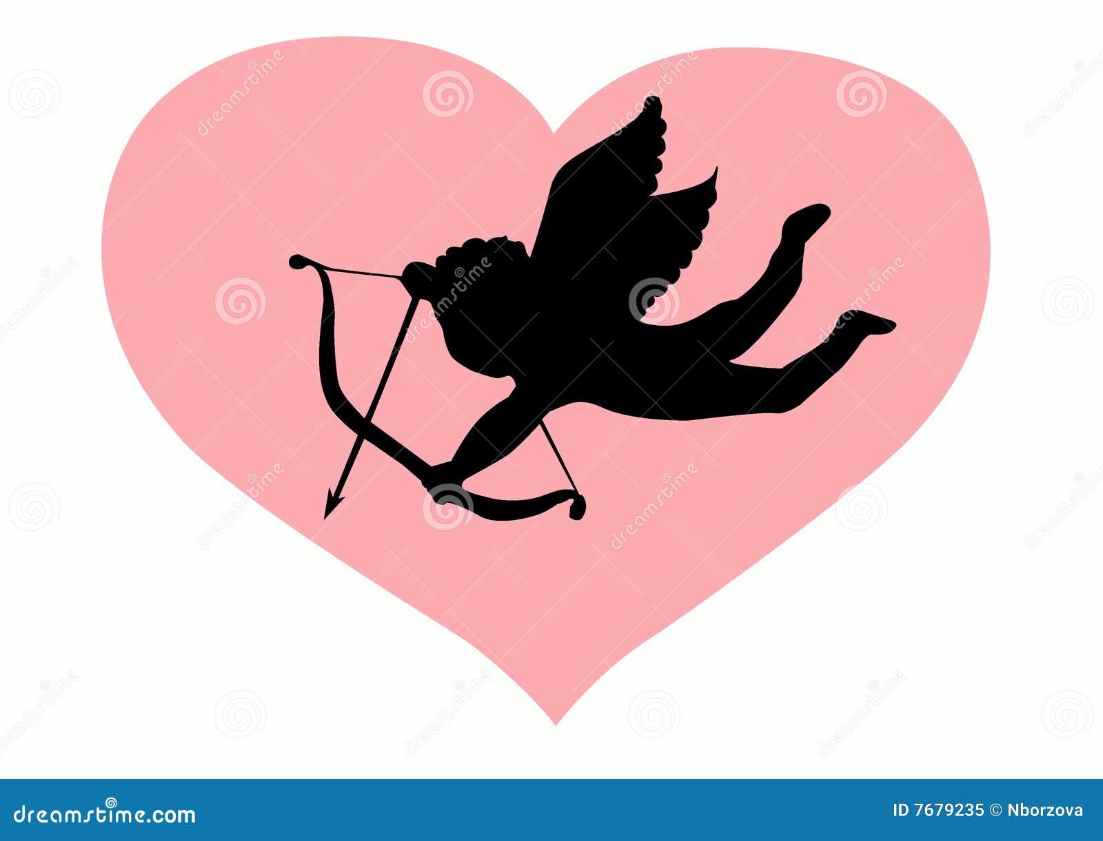 Silhouette de cupidon d 39 amour illustration de vecteur illustration du femme doux 7679235 - Image de cupidon gratuite ...