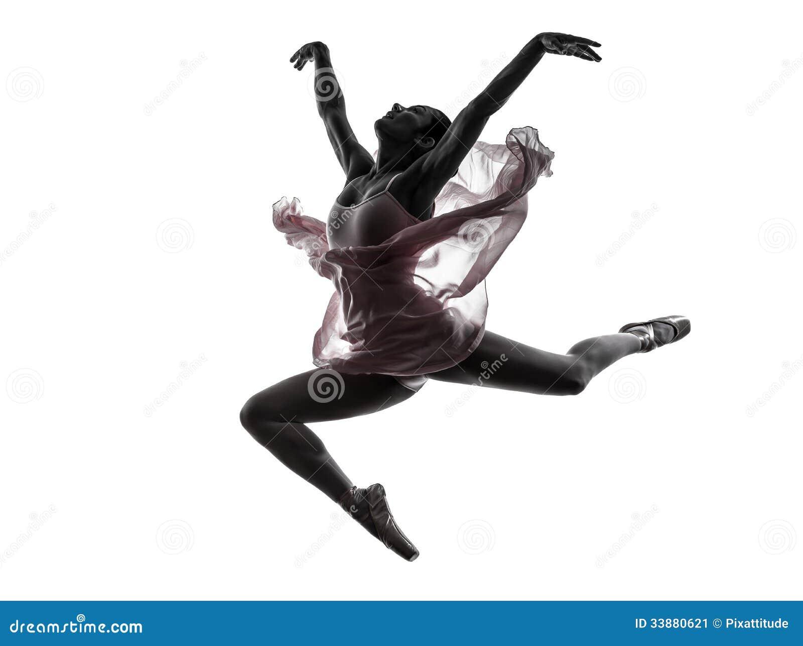 Silhouette de danse de danseur classique de ballerine de femme