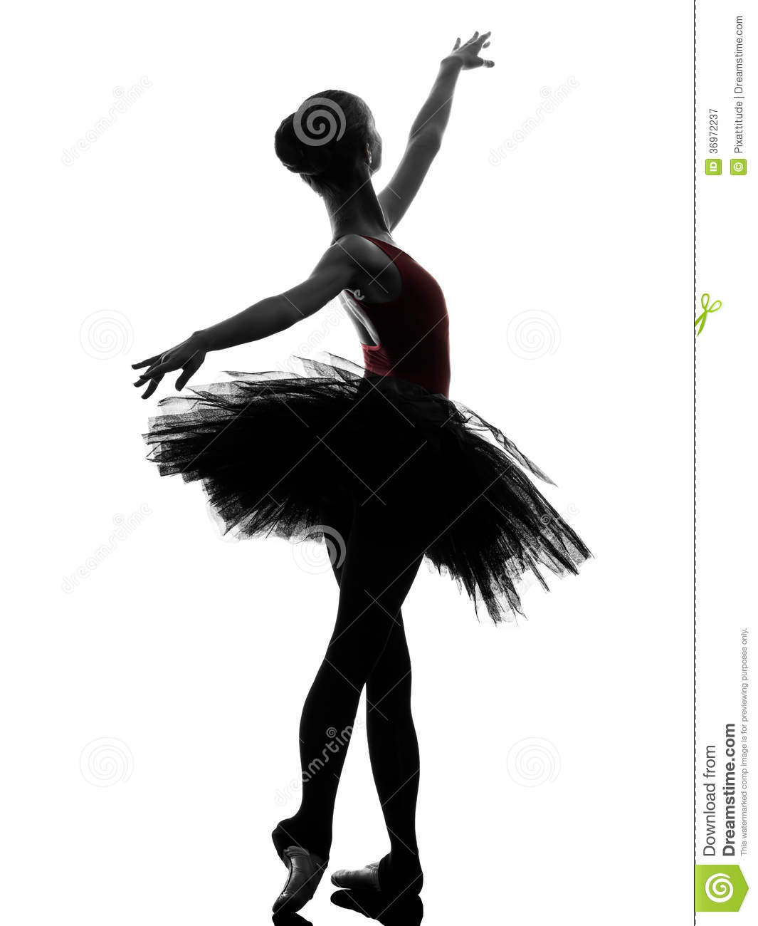 silhouette de danse de danseur classique de ballerine de jeune femme image stock image du. Black Bedroom Furniture Sets. Home Design Ideas