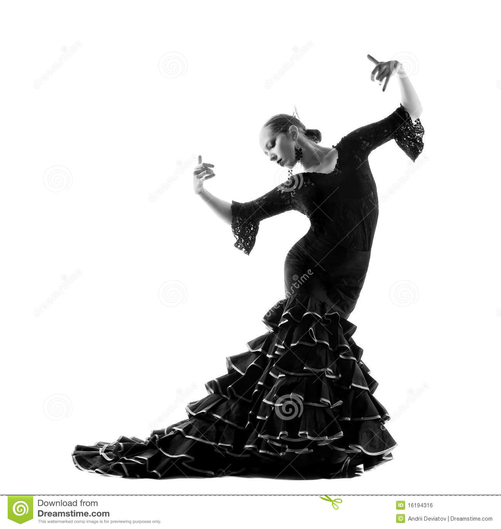 silhouette de danseur de flamenco image libre de droits image 16194316. Black Bedroom Furniture Sets. Home Design Ideas