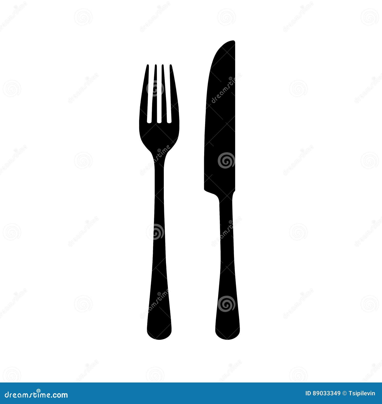 silhouette de fourchette et de couteau illustration stock image 89033349. Black Bedroom Furniture Sets. Home Design Ideas