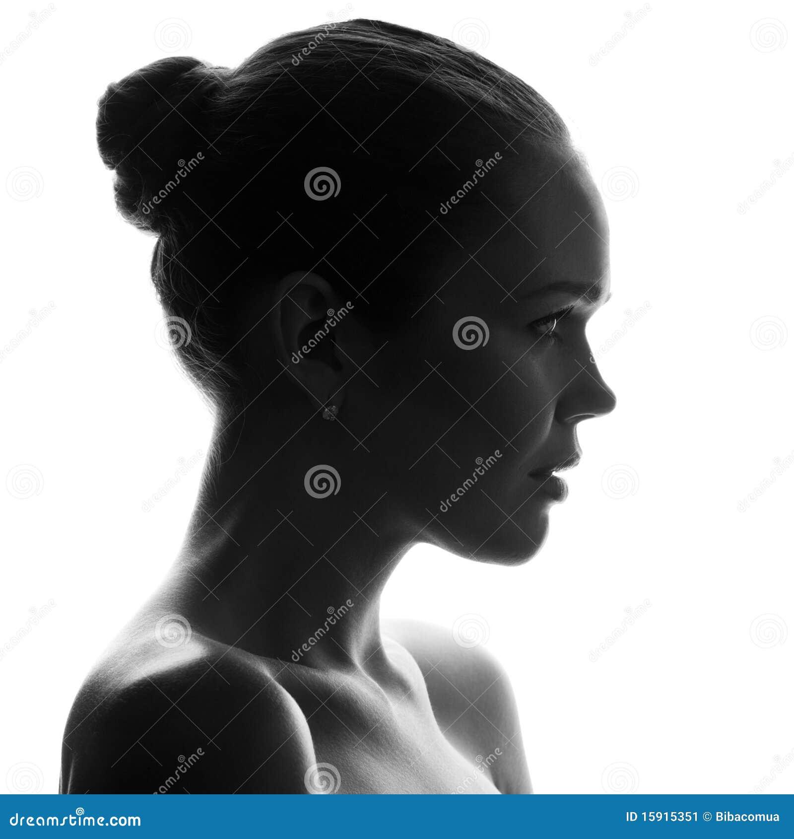 Silhouette de jolie femme