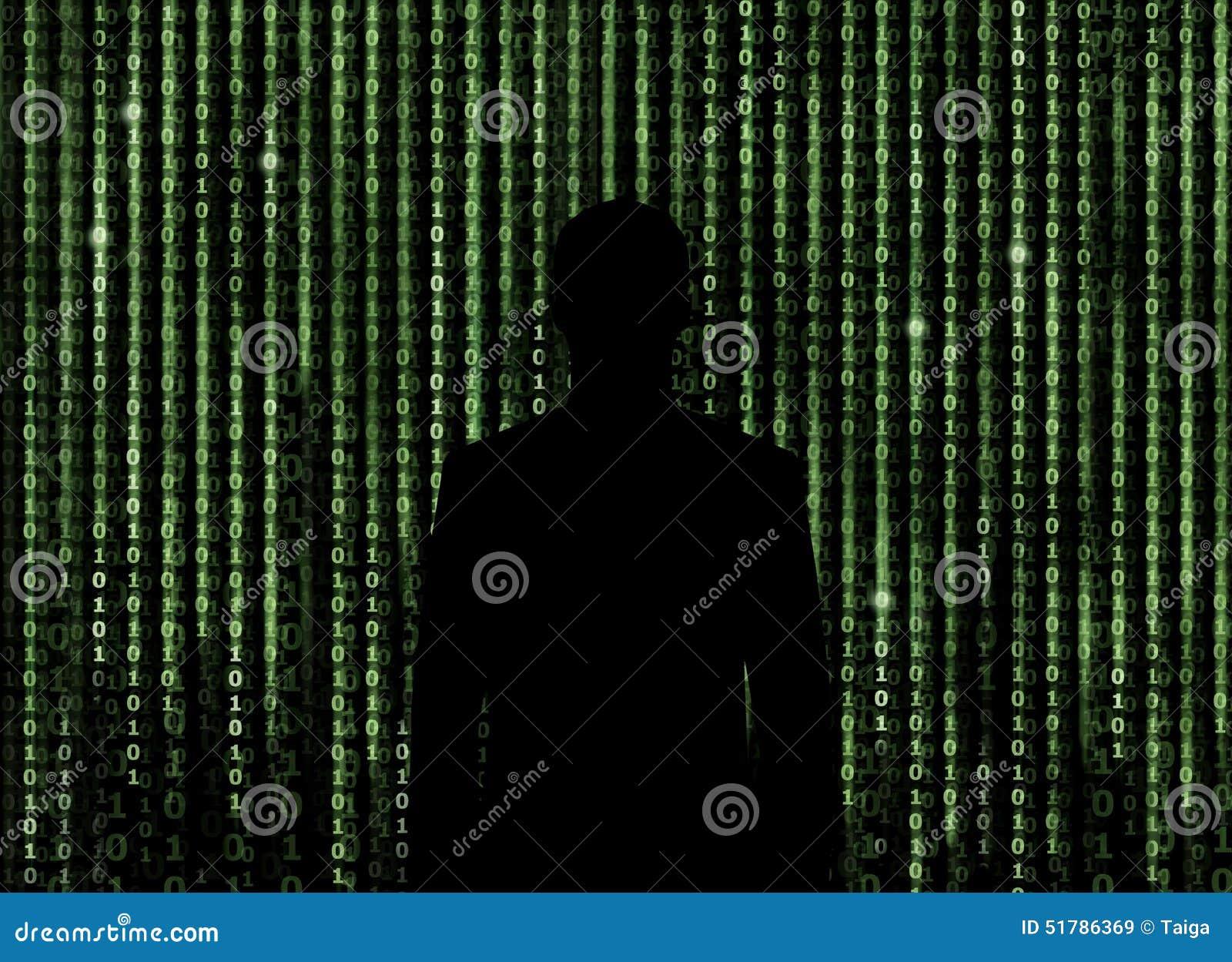 Silhouette de l homme regardant par le fond de matrice