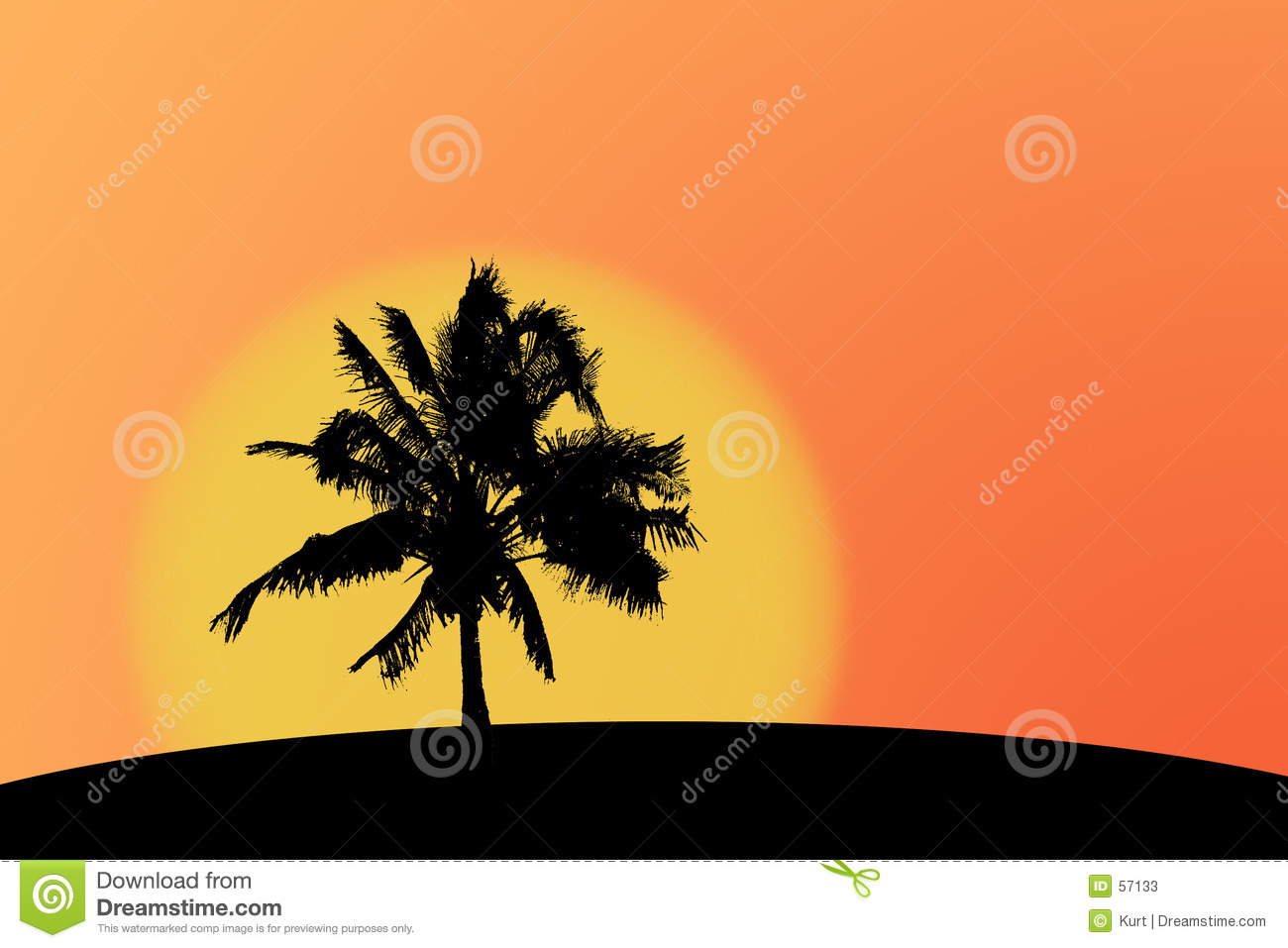 Download Silhouette de Palmtree illustration stock. Illustration du silhouettes - 57133