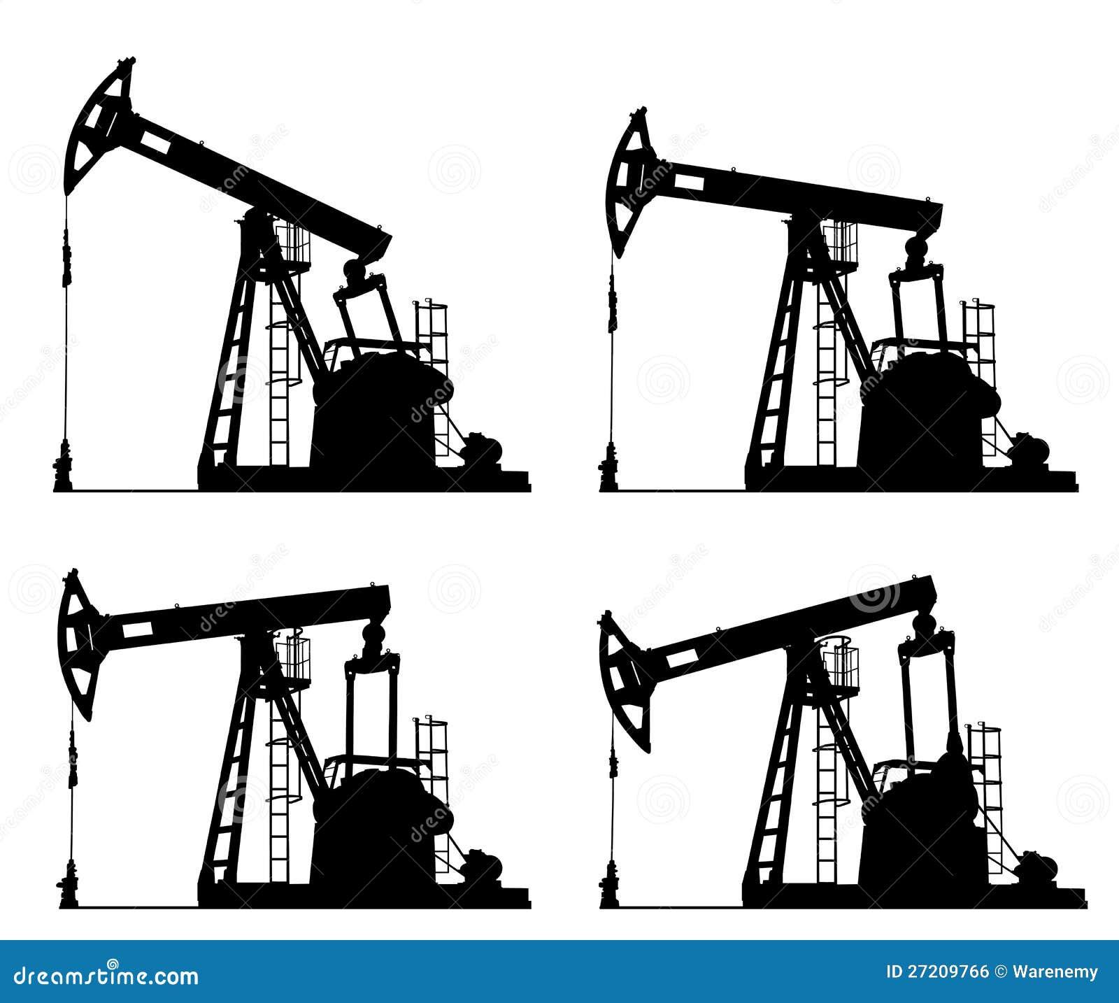 Silhouette de plot de pompe de puits de p trole photo stock image du m tal environnement - Pompe a petrole ...