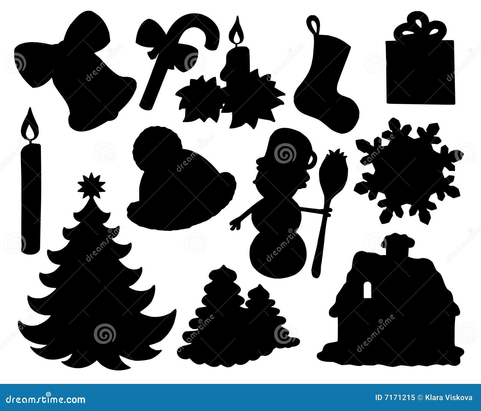 silhouette de ramassage de no l 02 illustration de vecteur image 7171215. Black Bedroom Furniture Sets. Home Design Ideas