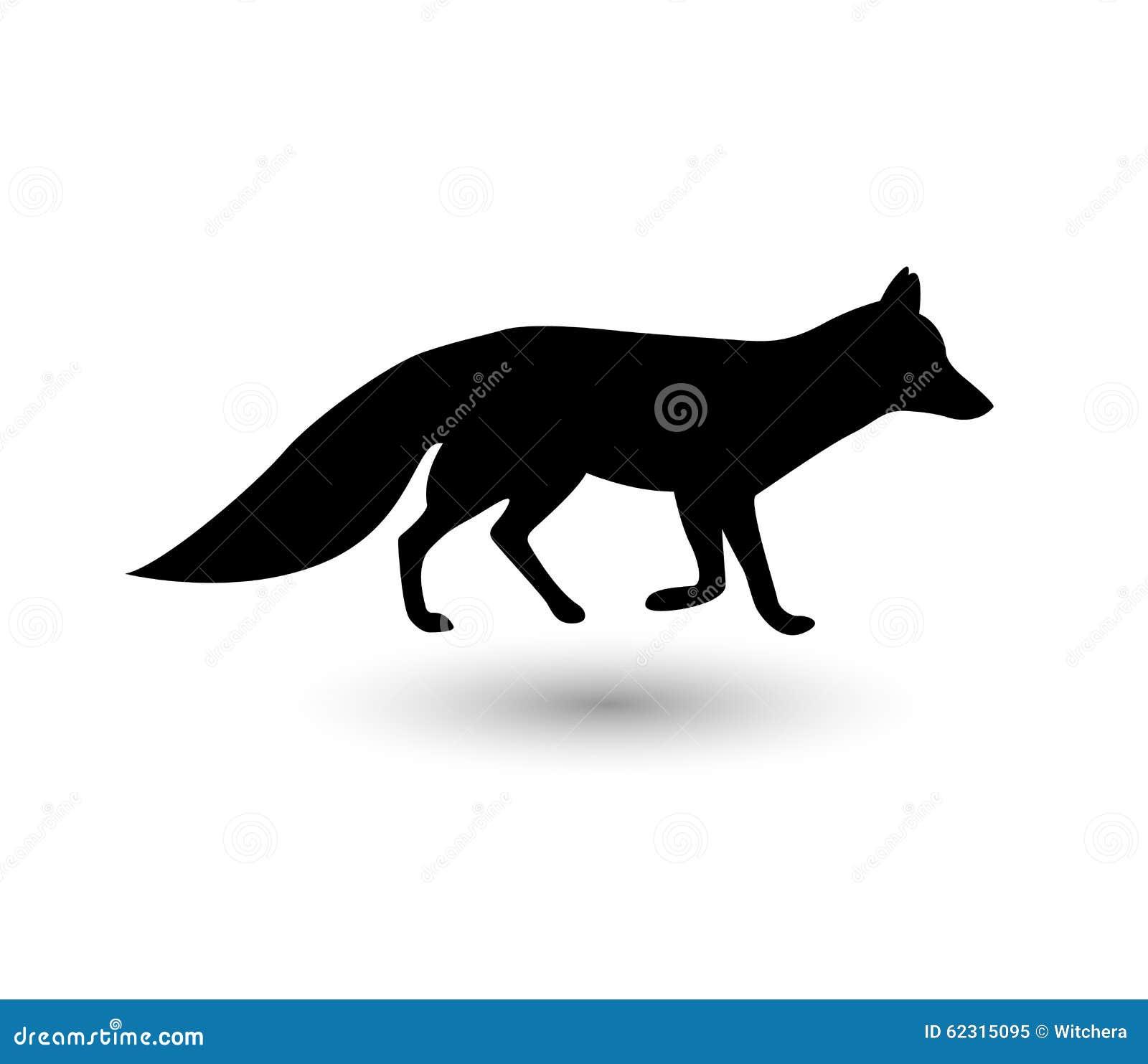 Silhouette de renard illustration de vecteur illustration - Clipart renard ...