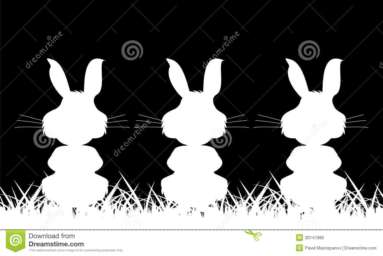 silhouette de trois blancs d 39 un lapin illustration de vecteur illustration du annotation. Black Bedroom Furniture Sets. Home Design Ideas
