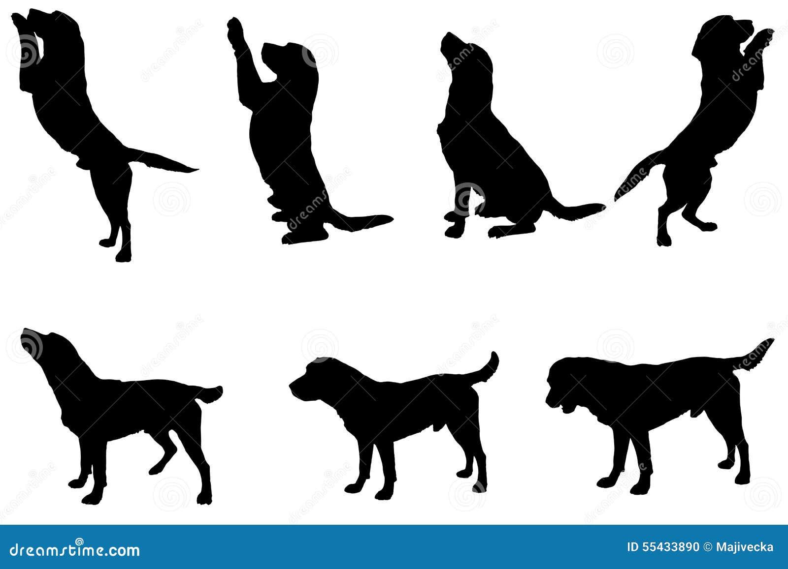 Silhouette de vecteur d 39 un chien illustration de vecteur - Dessin d un chien ...