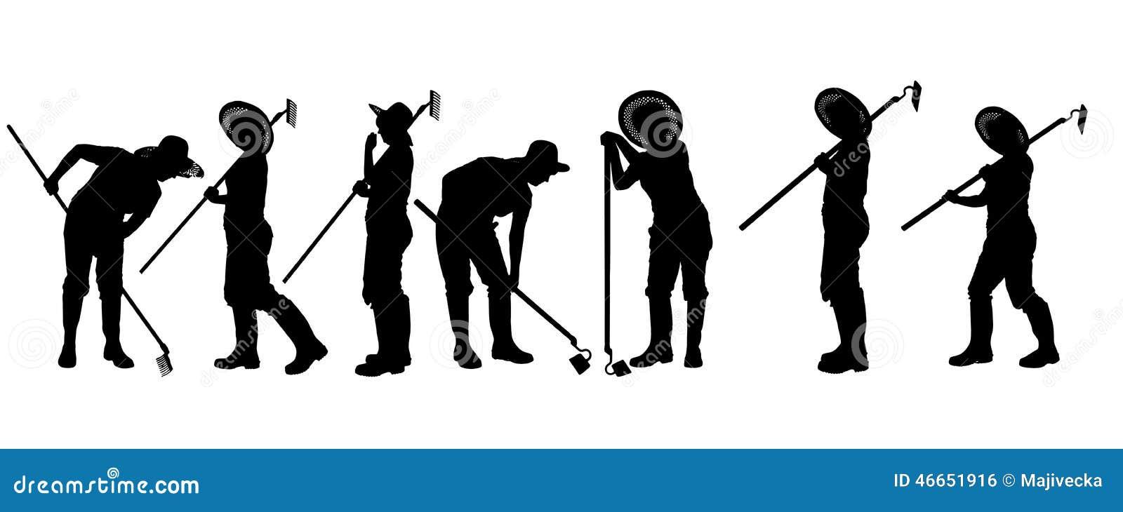 silhouette de vecteur d 39 un jardinier illustration de vecteur illustration du centrale. Black Bedroom Furniture Sets. Home Design Ideas