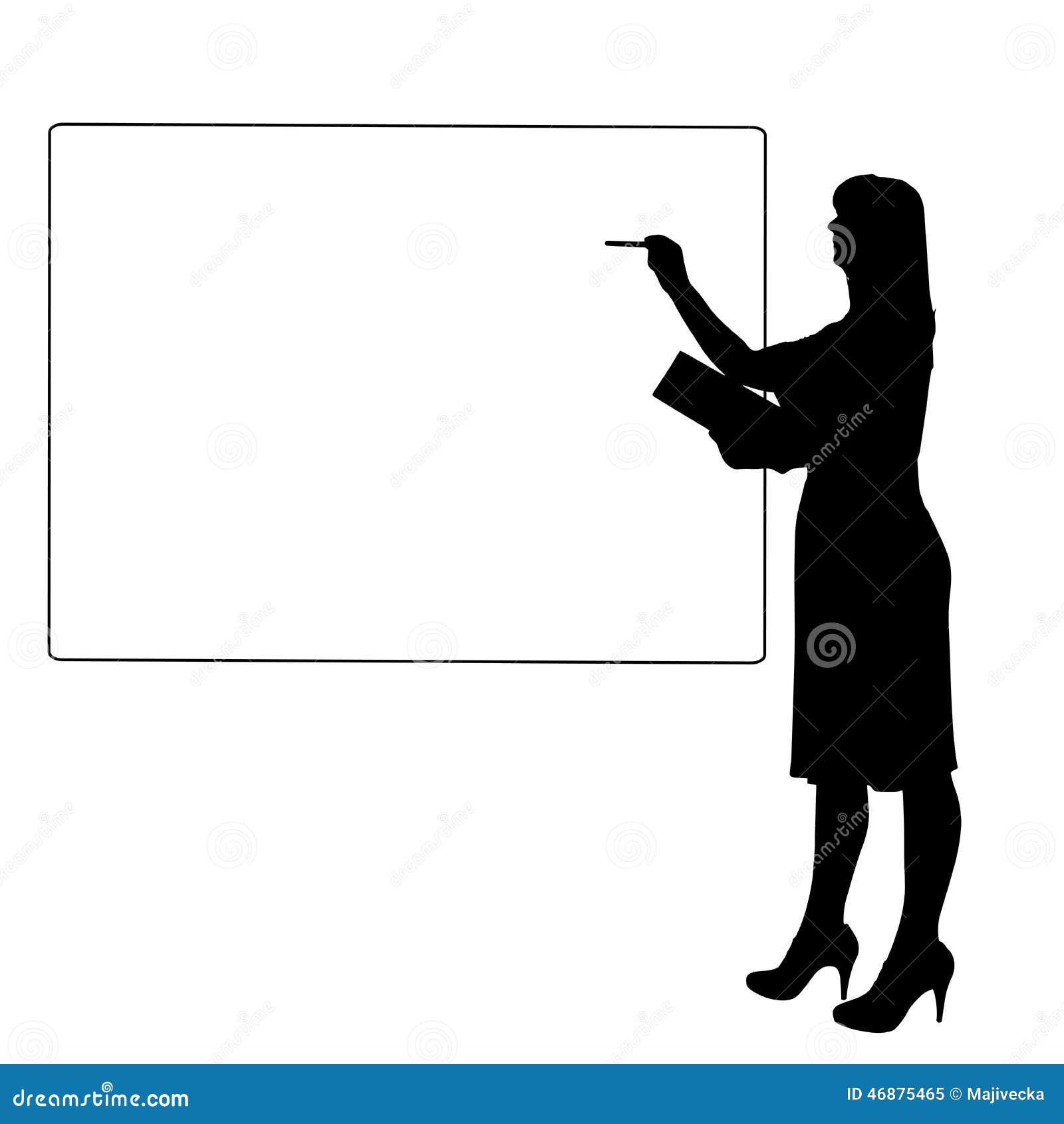 Silhouette de vecteur d une femme