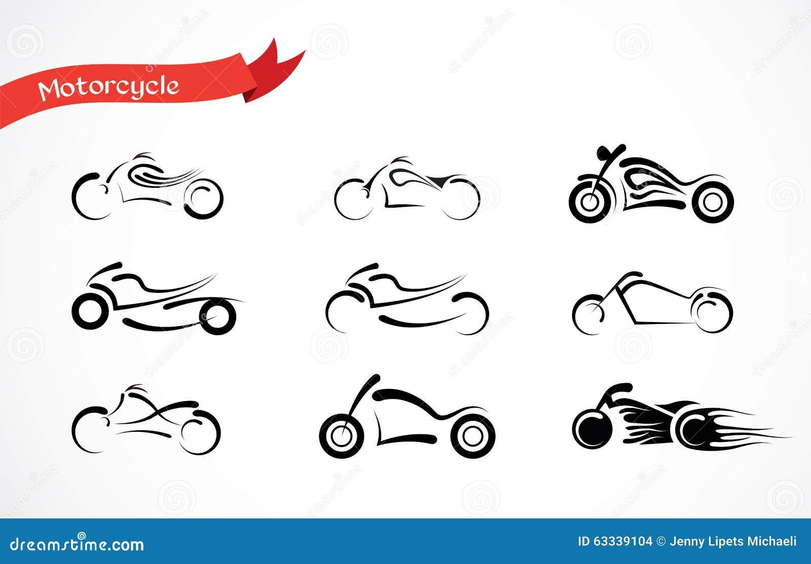Silhouette De Vecteur De Moto Classique Illustration de Vecteur Image: 63339104