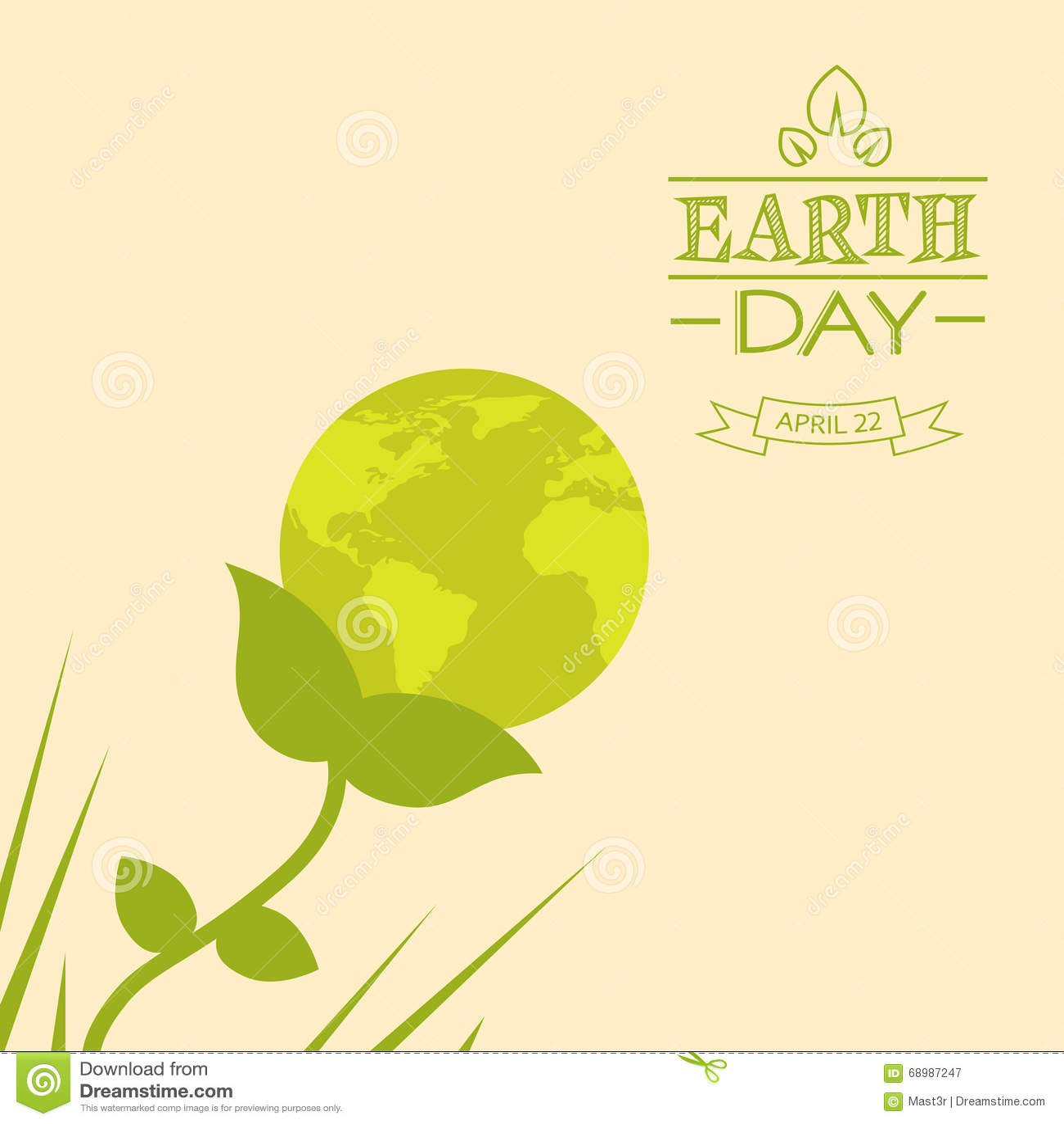 Silhouette de vert de fleur de globe du monde de jour de terre