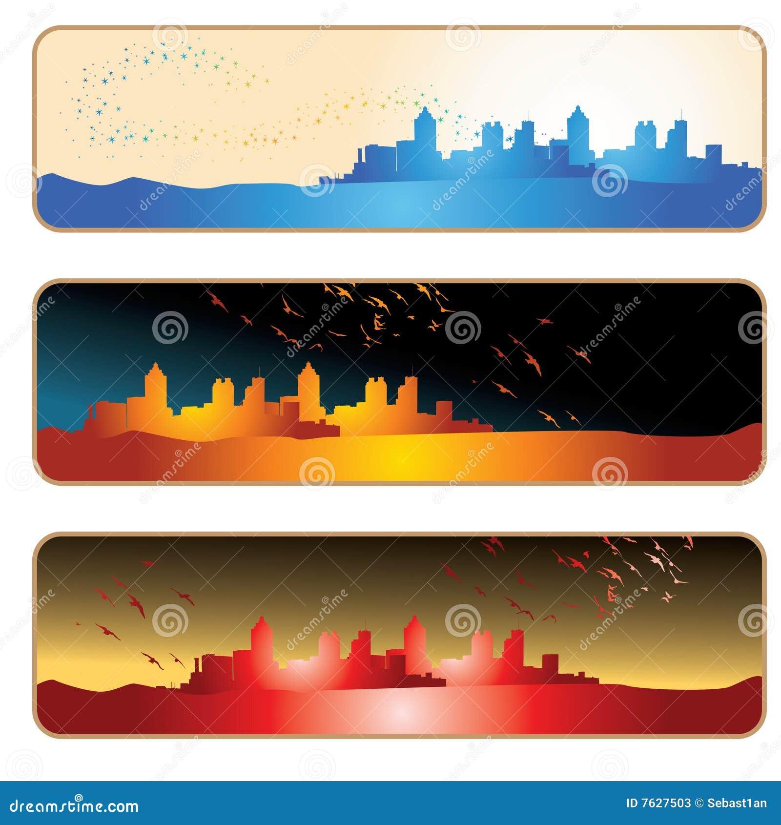 Silhouette de ville de drapeau
