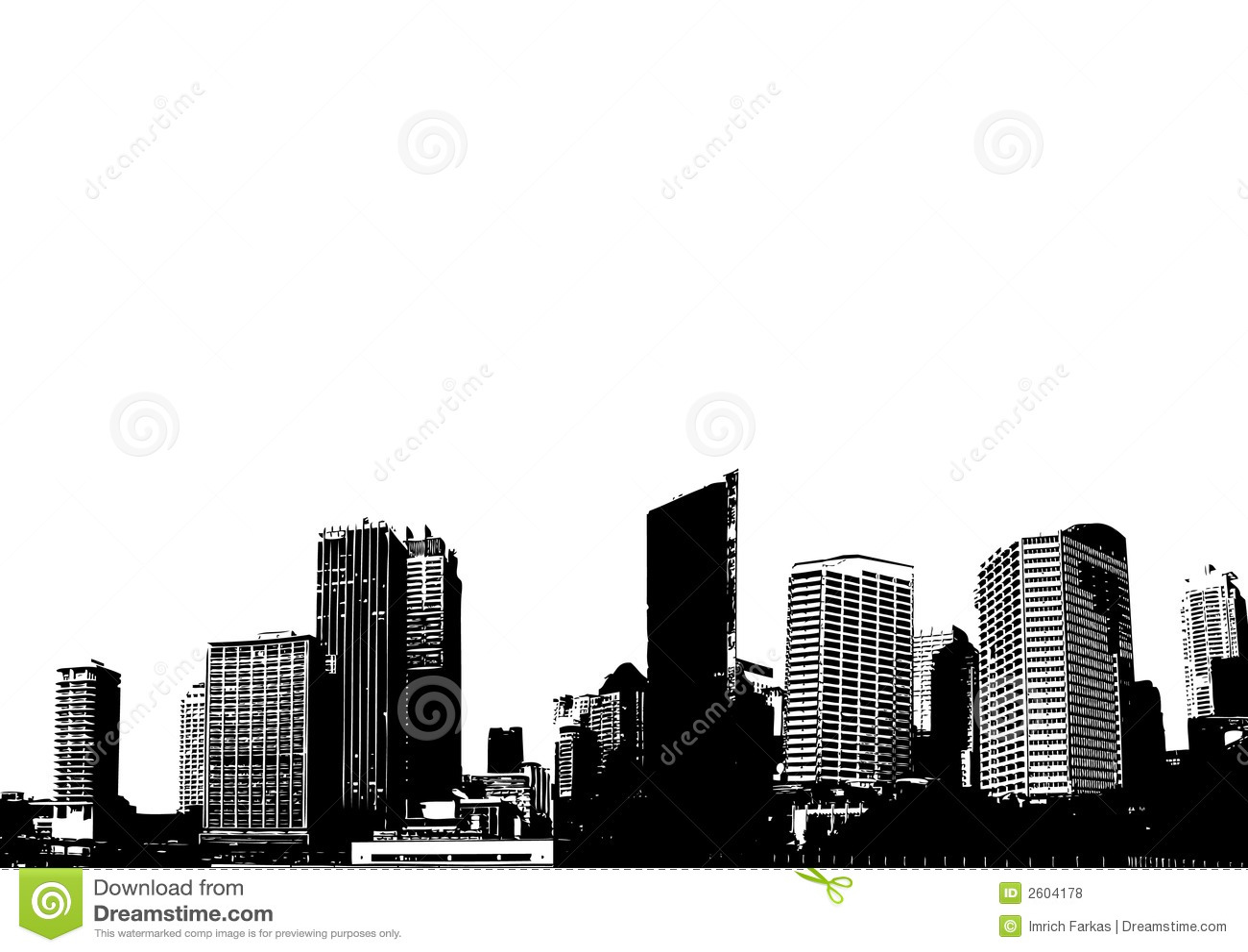 Silhouette de ville. Vecteur