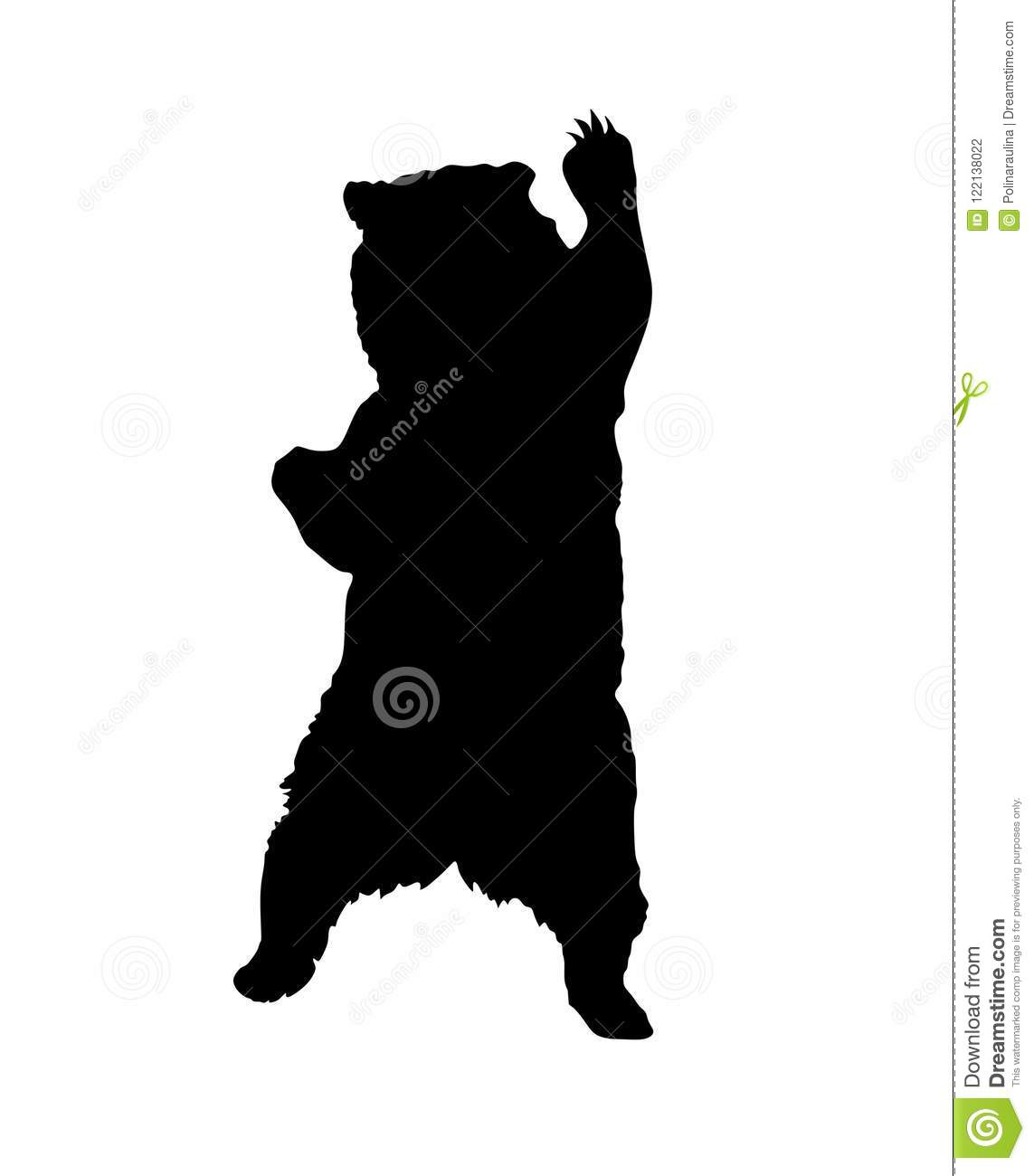 Silhouette debout d ours