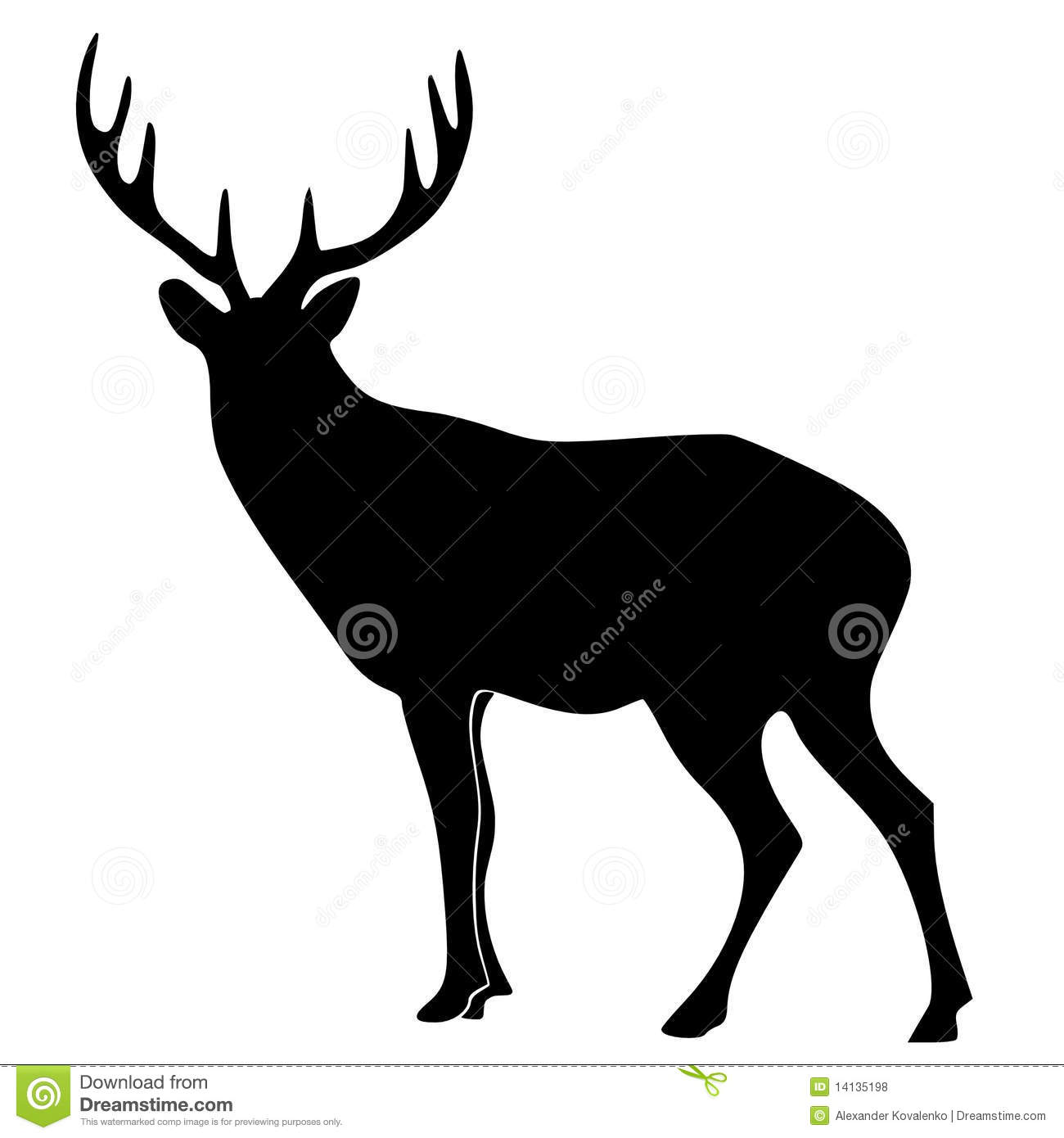 Silhouette Of Deer Royalty Free Stock Photos - Image: 14135198