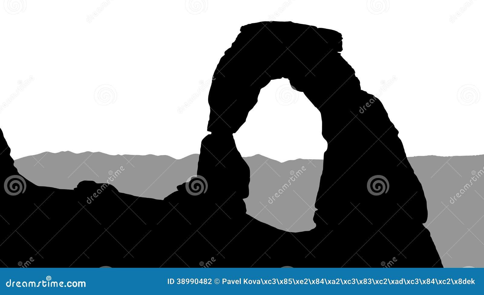 Arches National Park Vector Illustration Utah Stock Vector ...  |Clipart National Park Utah