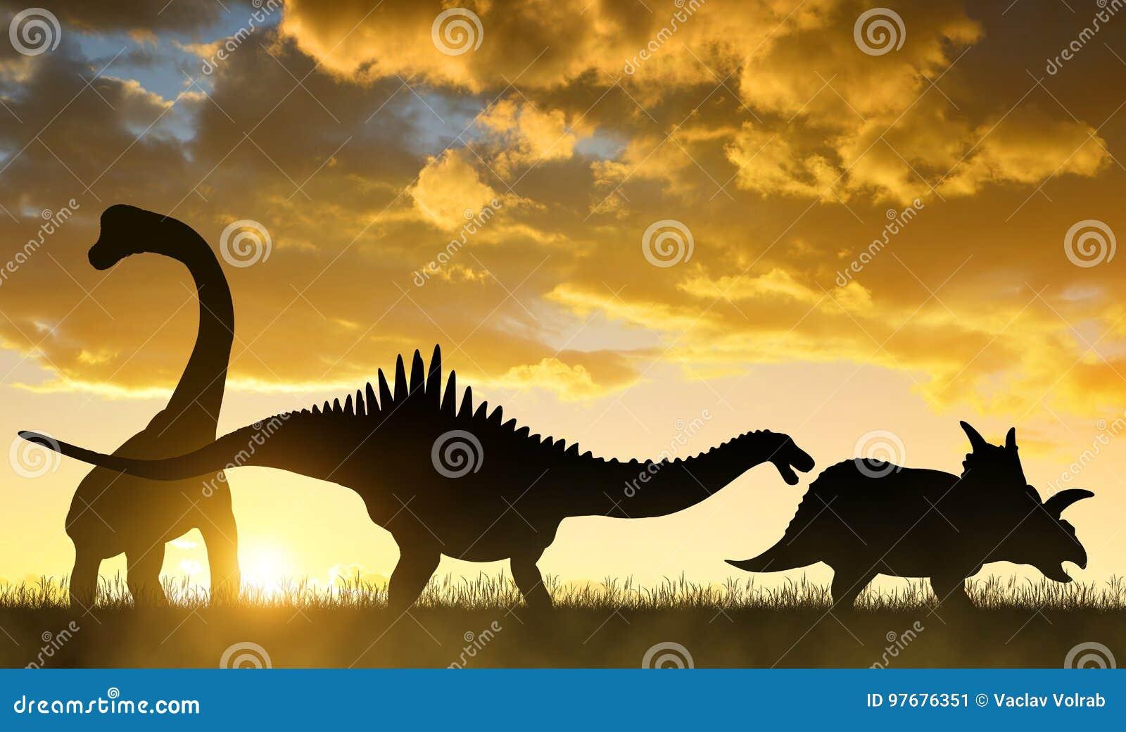 Silhouette des dinosaures